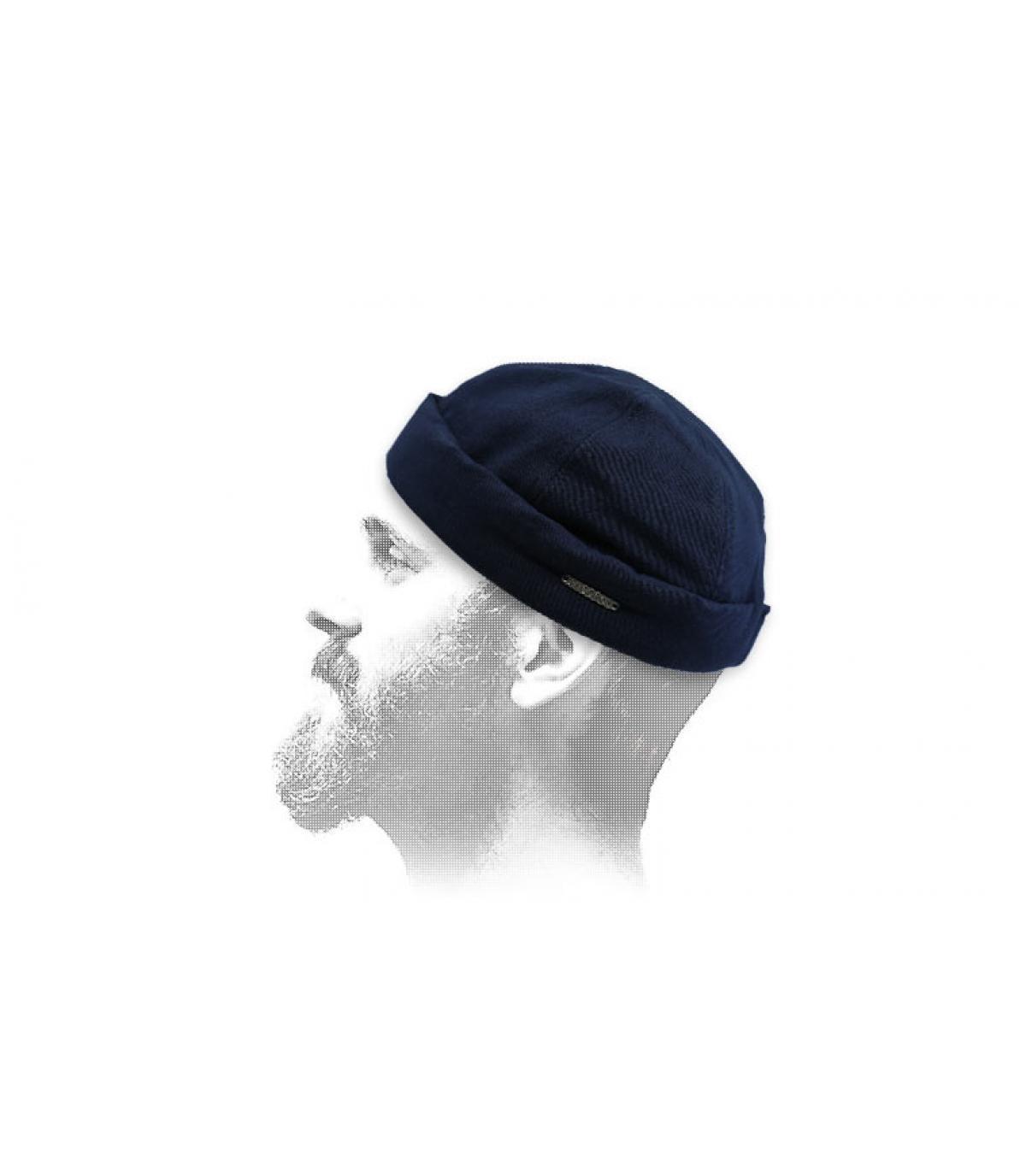 Docker Mütze blau Stetson
