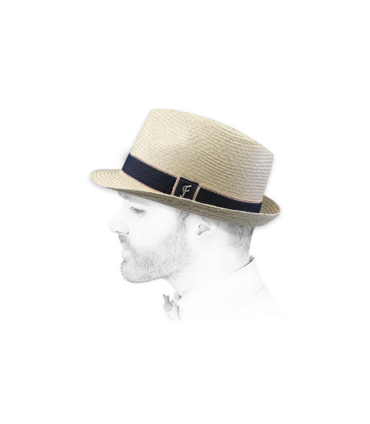 Trilby Strohhut beige