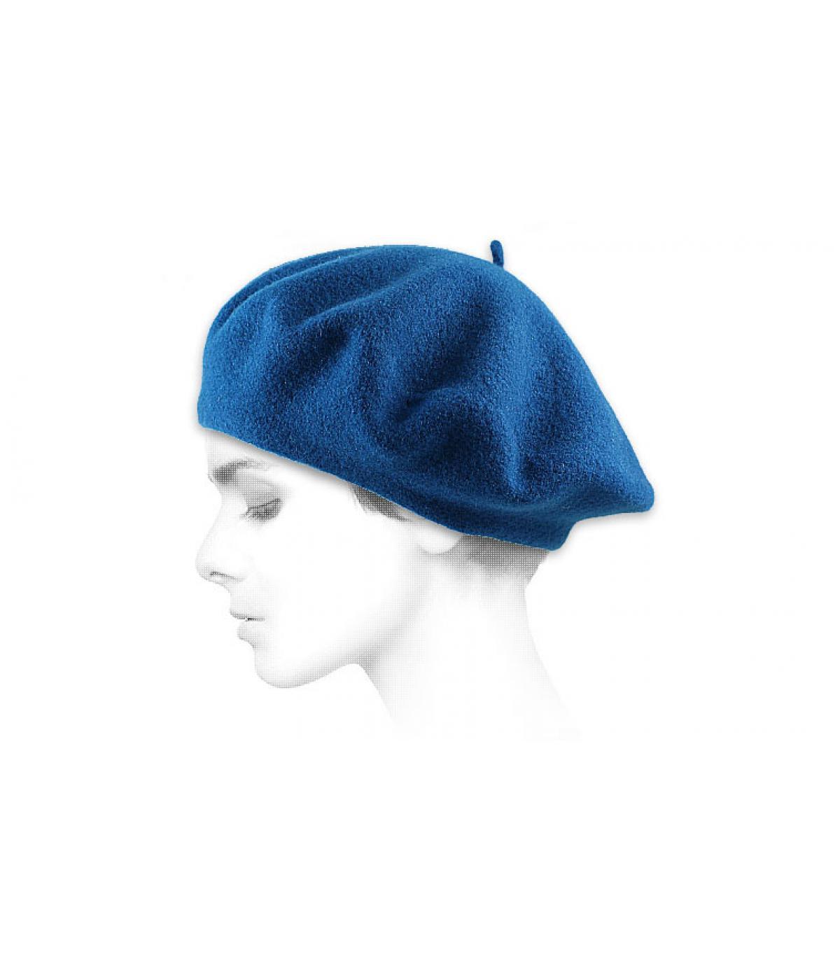 Blaues französisches Barett