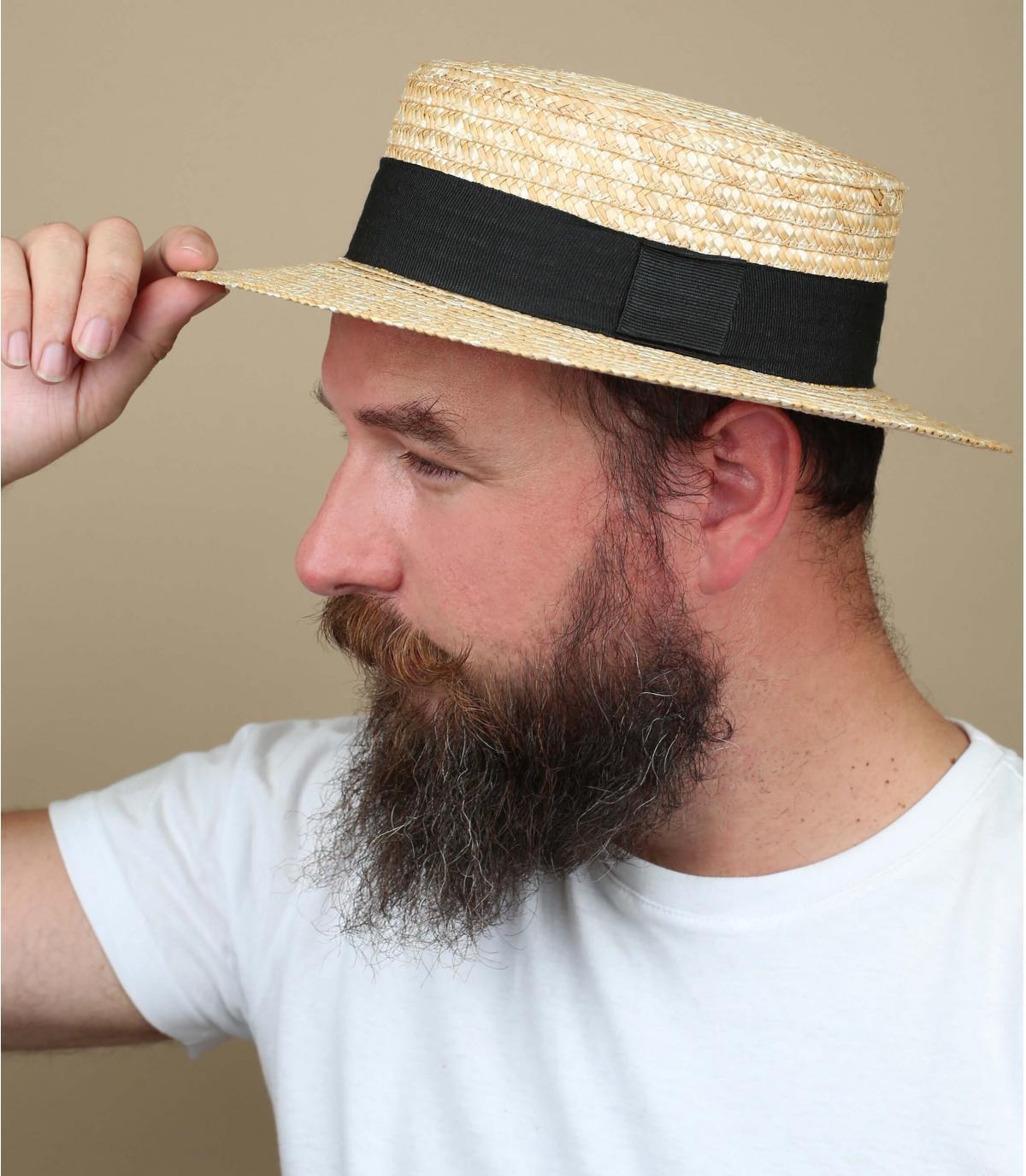Canotier Stroh Hutband