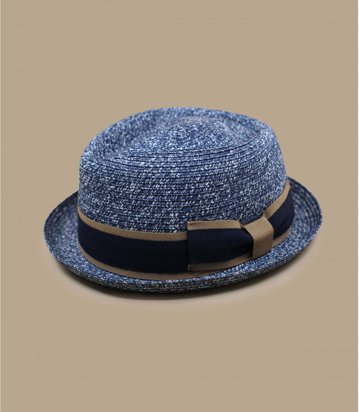 Strohhut blau Hutband