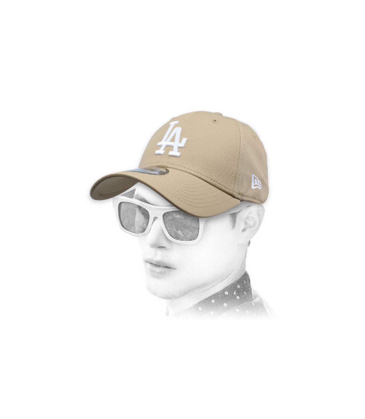 Cap LA beige
