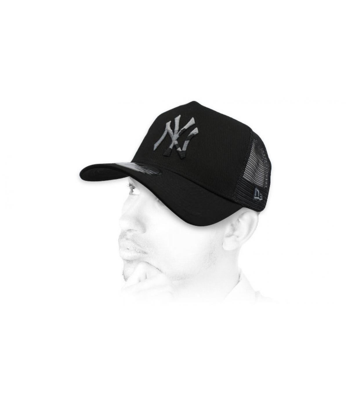 Trucker schwarz NY camo