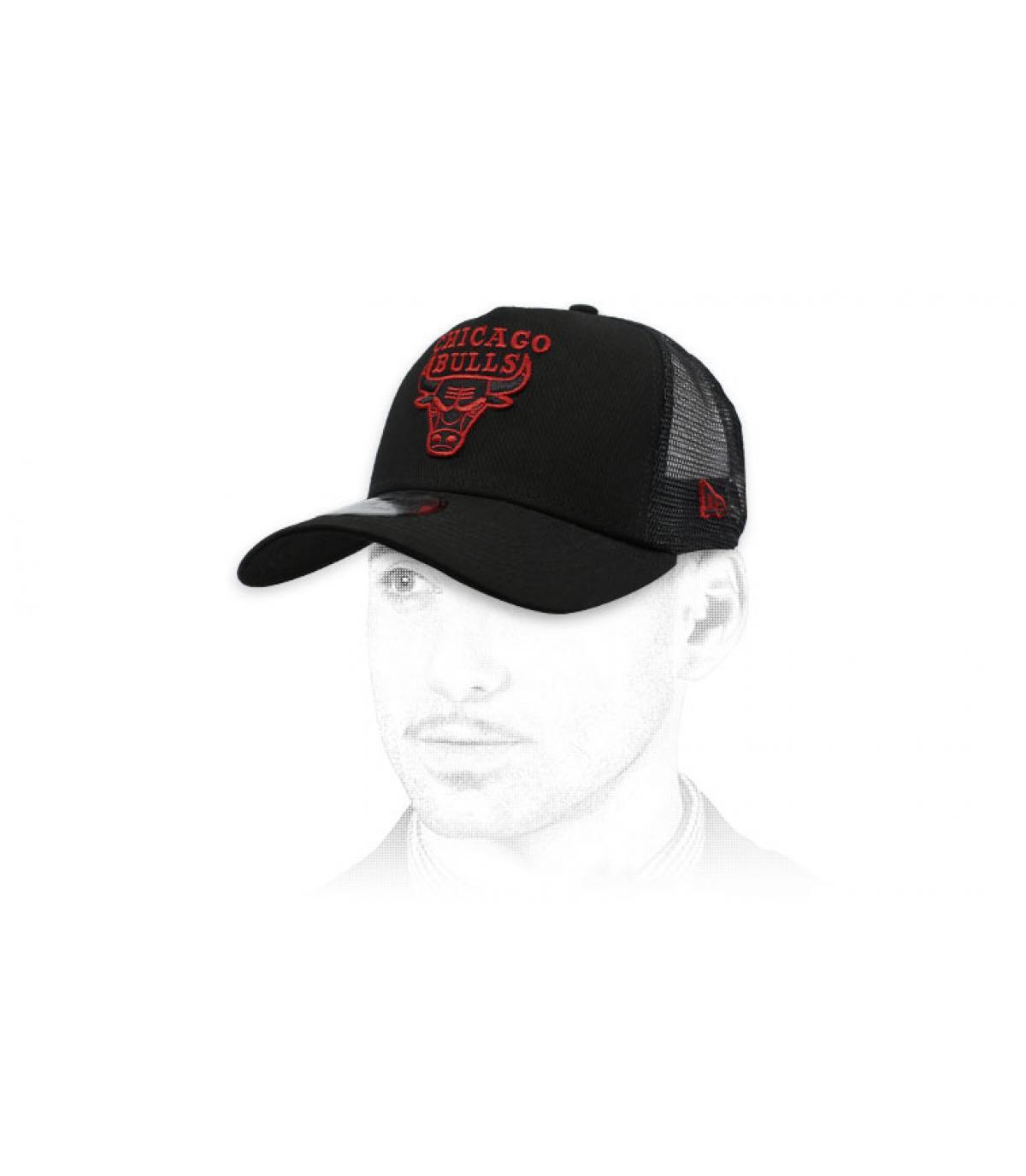 Trucker Bulls schwarz rot