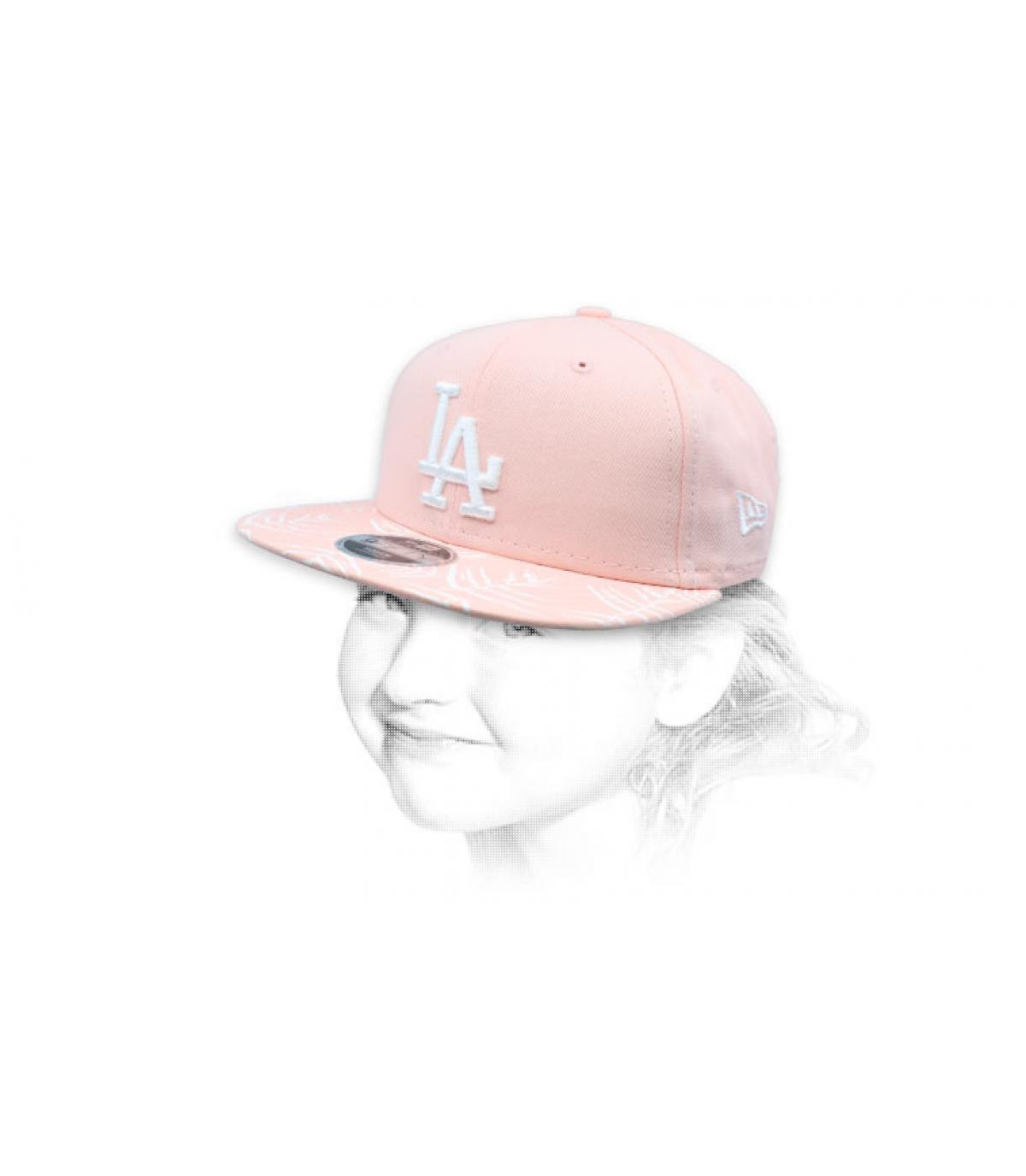 Kinder Snapback LA rosa
