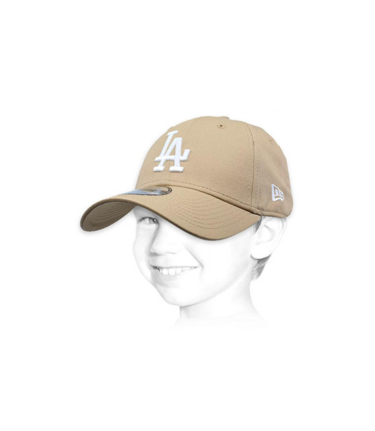 Kinder Cap LA beige