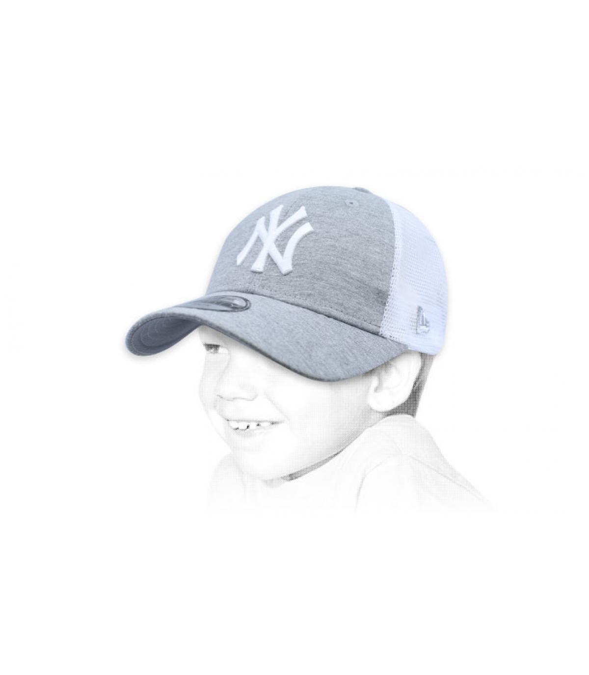 Kinder Trucker NY grau