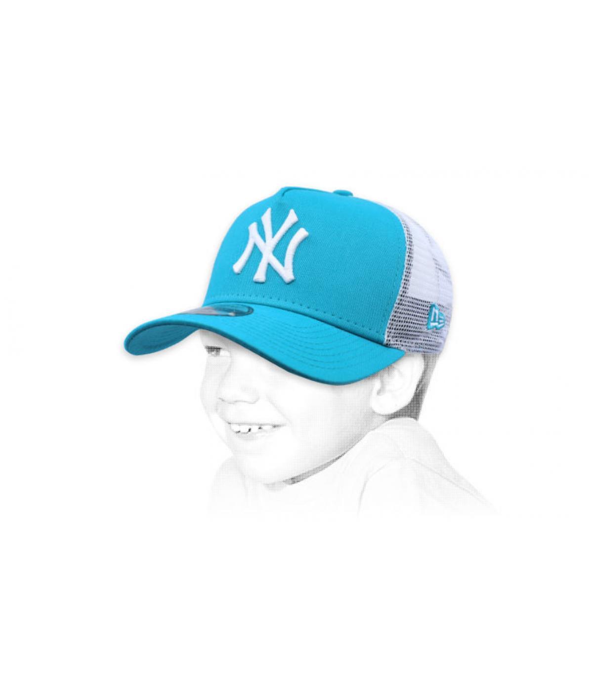 Kinder Trucker blau NY