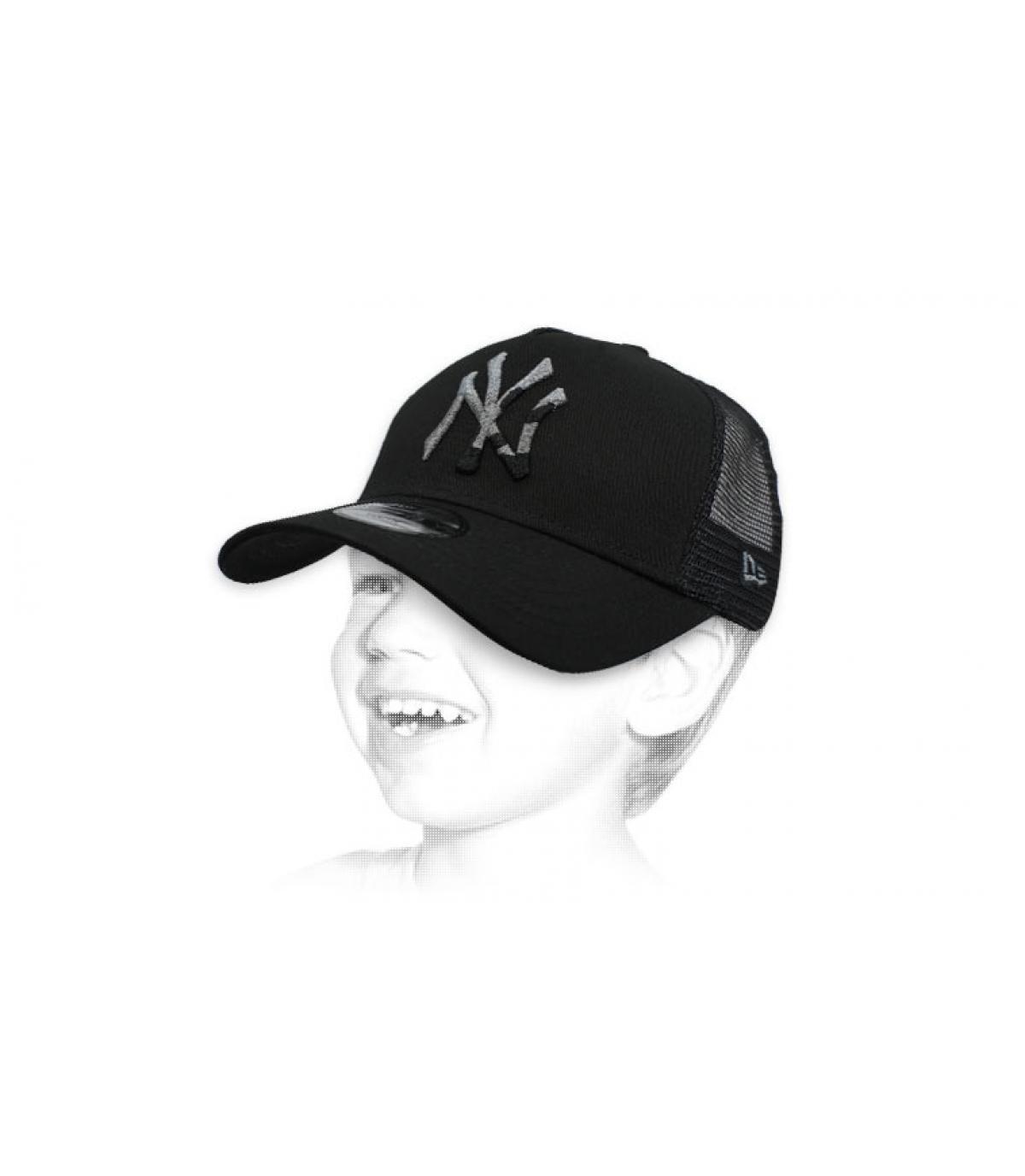 Kinder Trucker schwarz NY