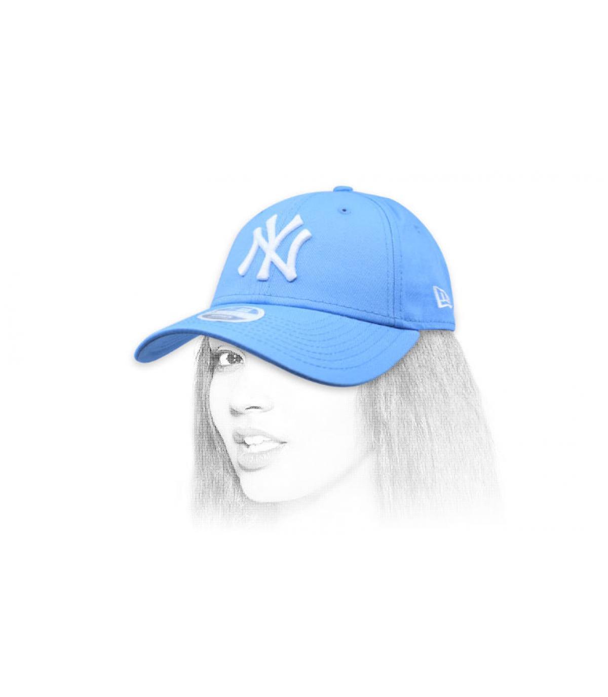 Damen Cap NY blau
