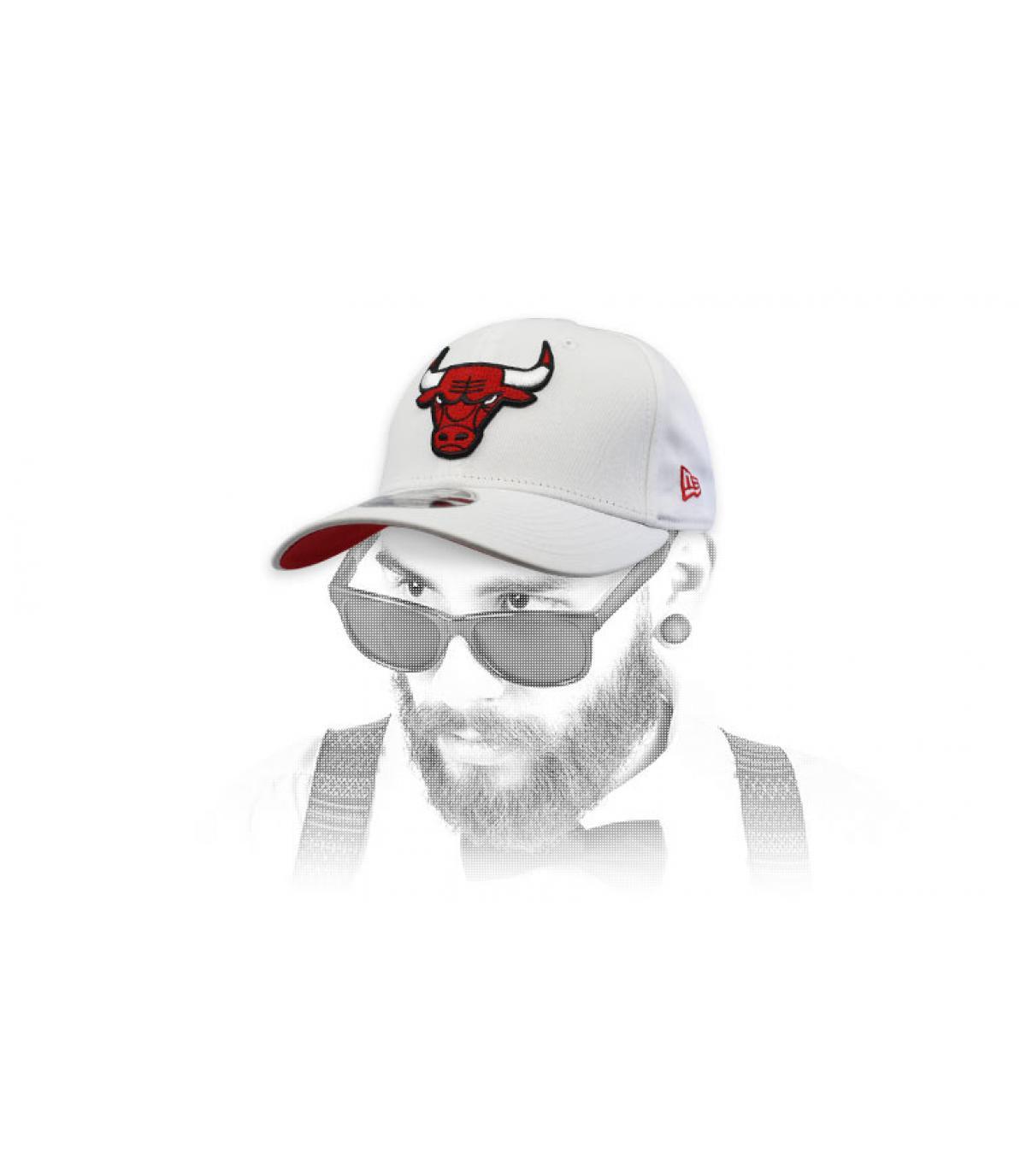 Cap Bulls weiß