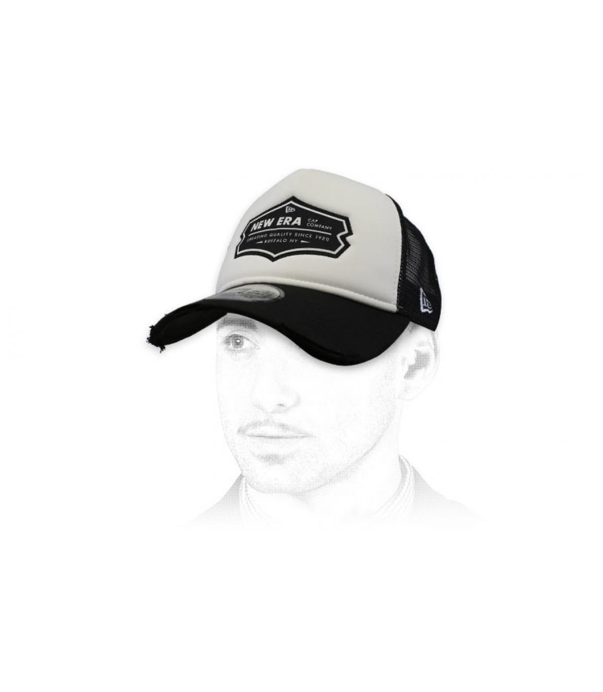Trucker New Era schwarz weiß