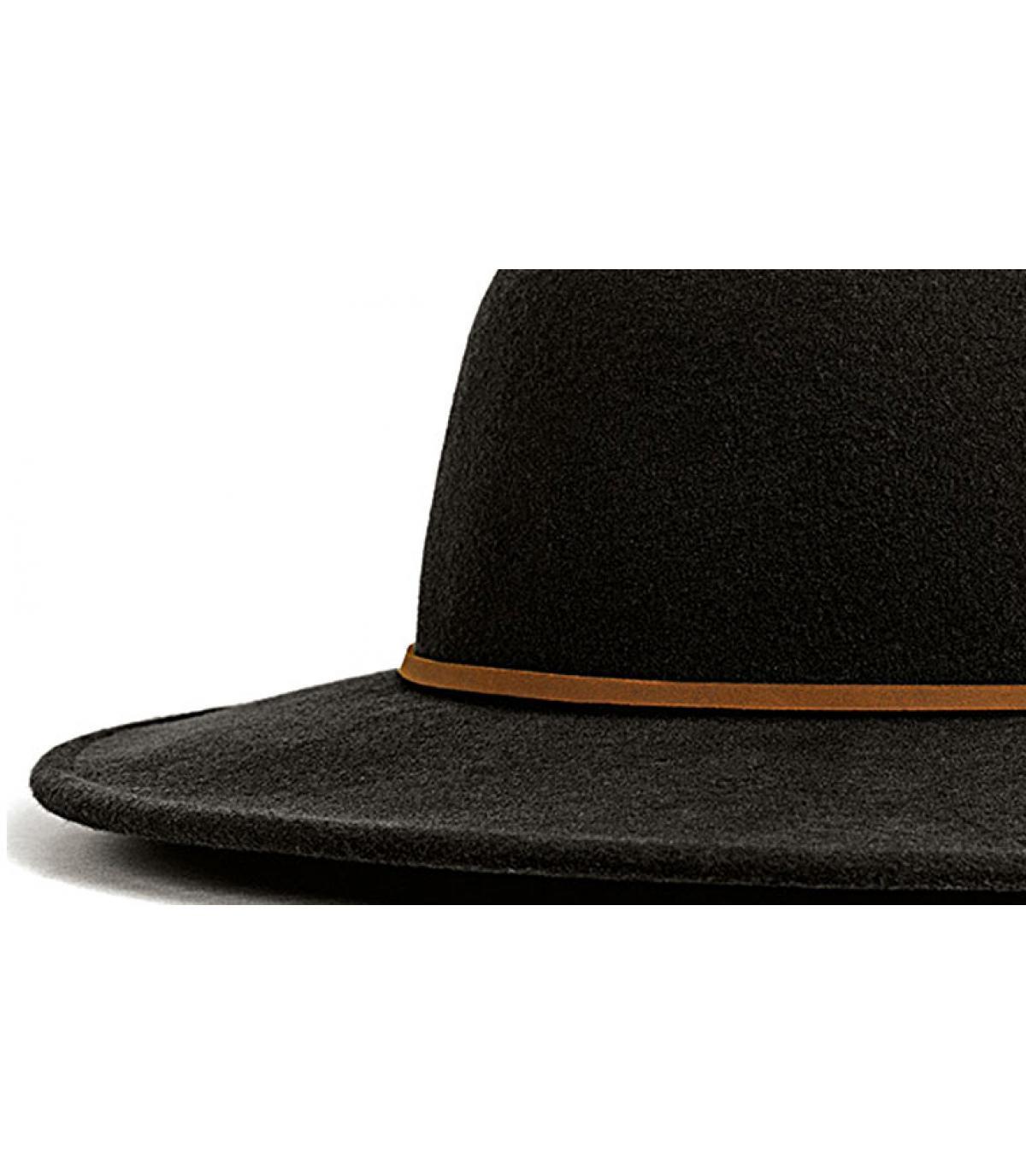 Details Tiller schwarz Damen Hut - Abbildung 2