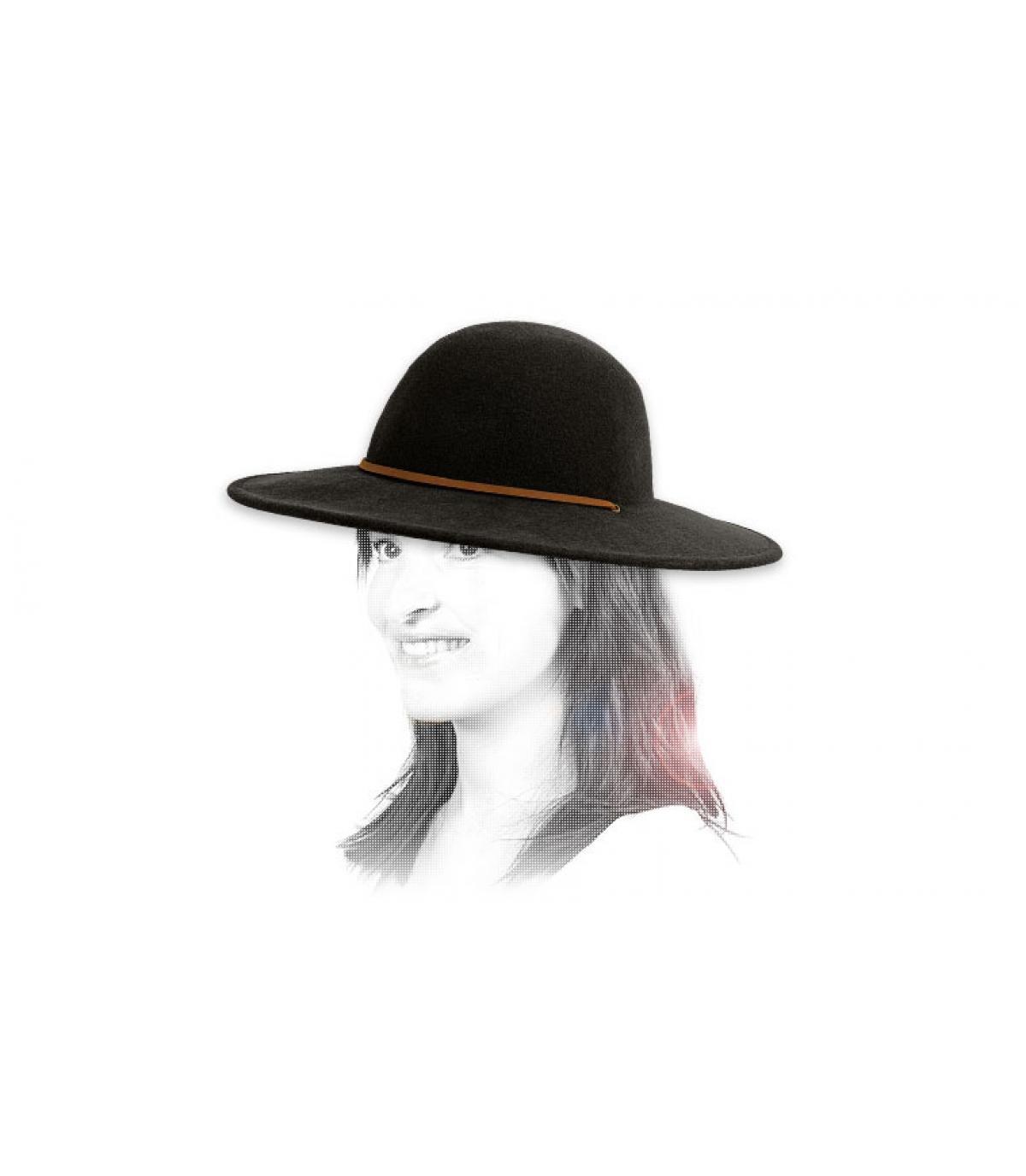 Details Tiller schwarz Damen Hut - Abbildung 3