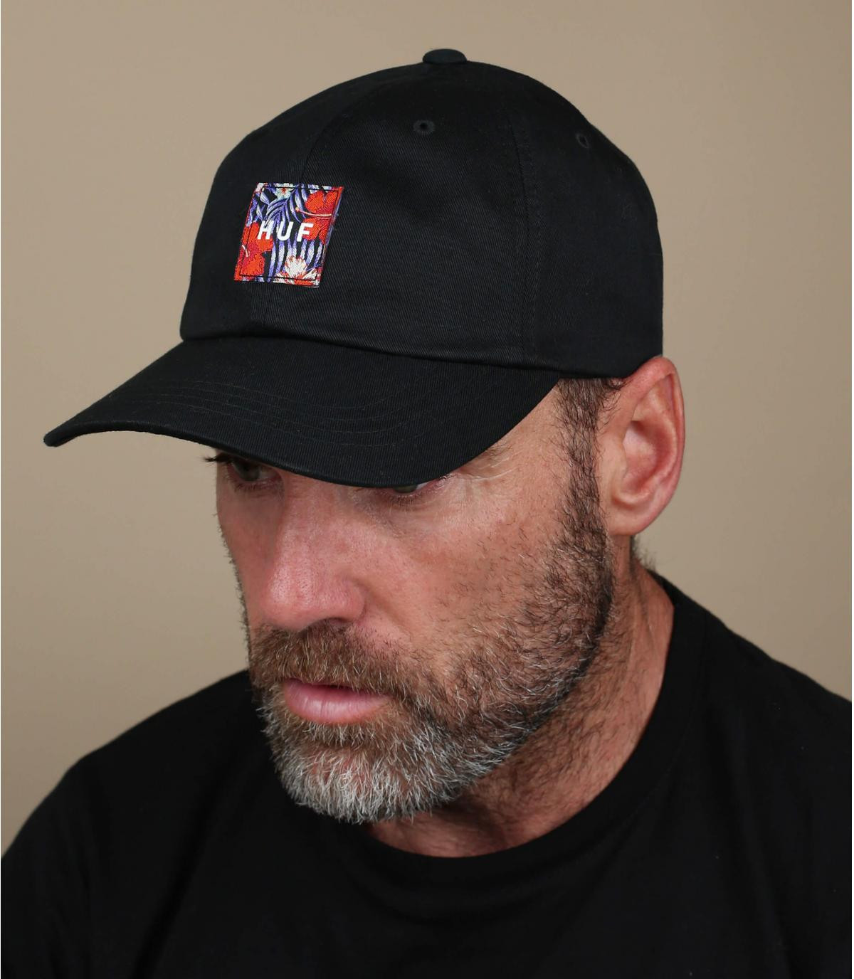 Cap Huf schwarz Patch