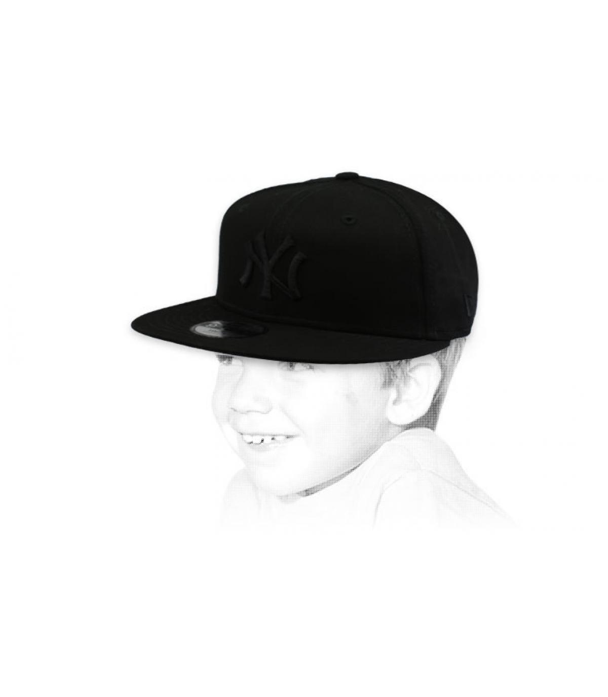 Kinder Cap NY schwarz