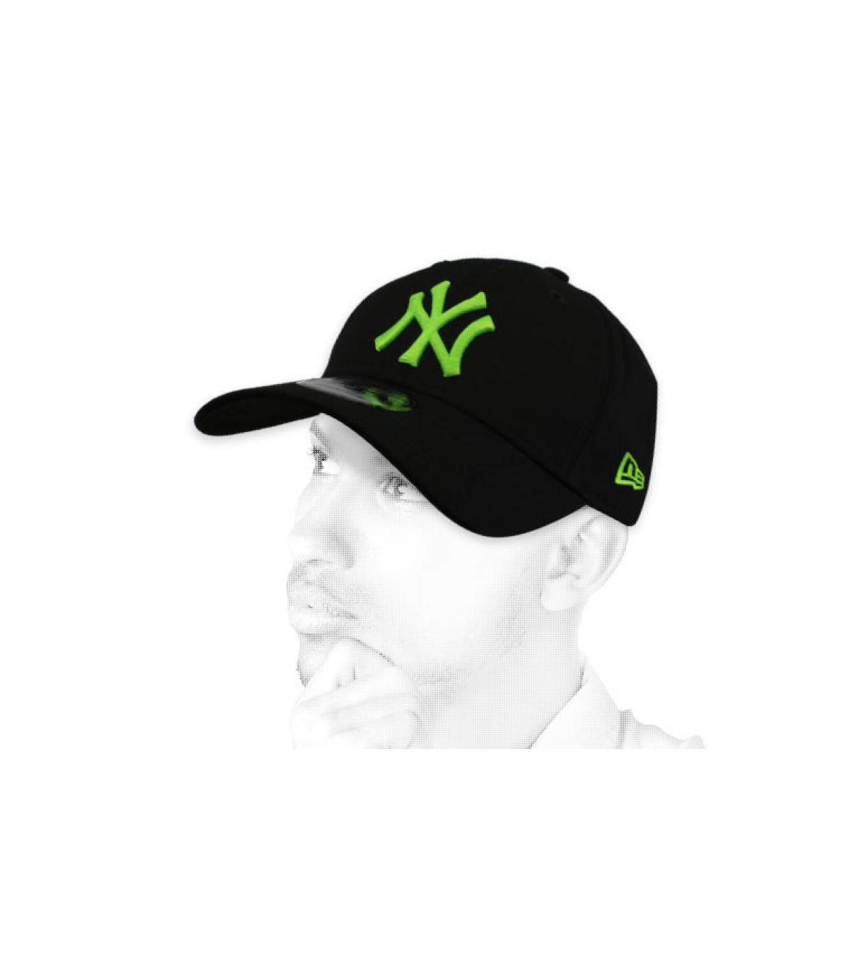 Cap NY schwarz grün