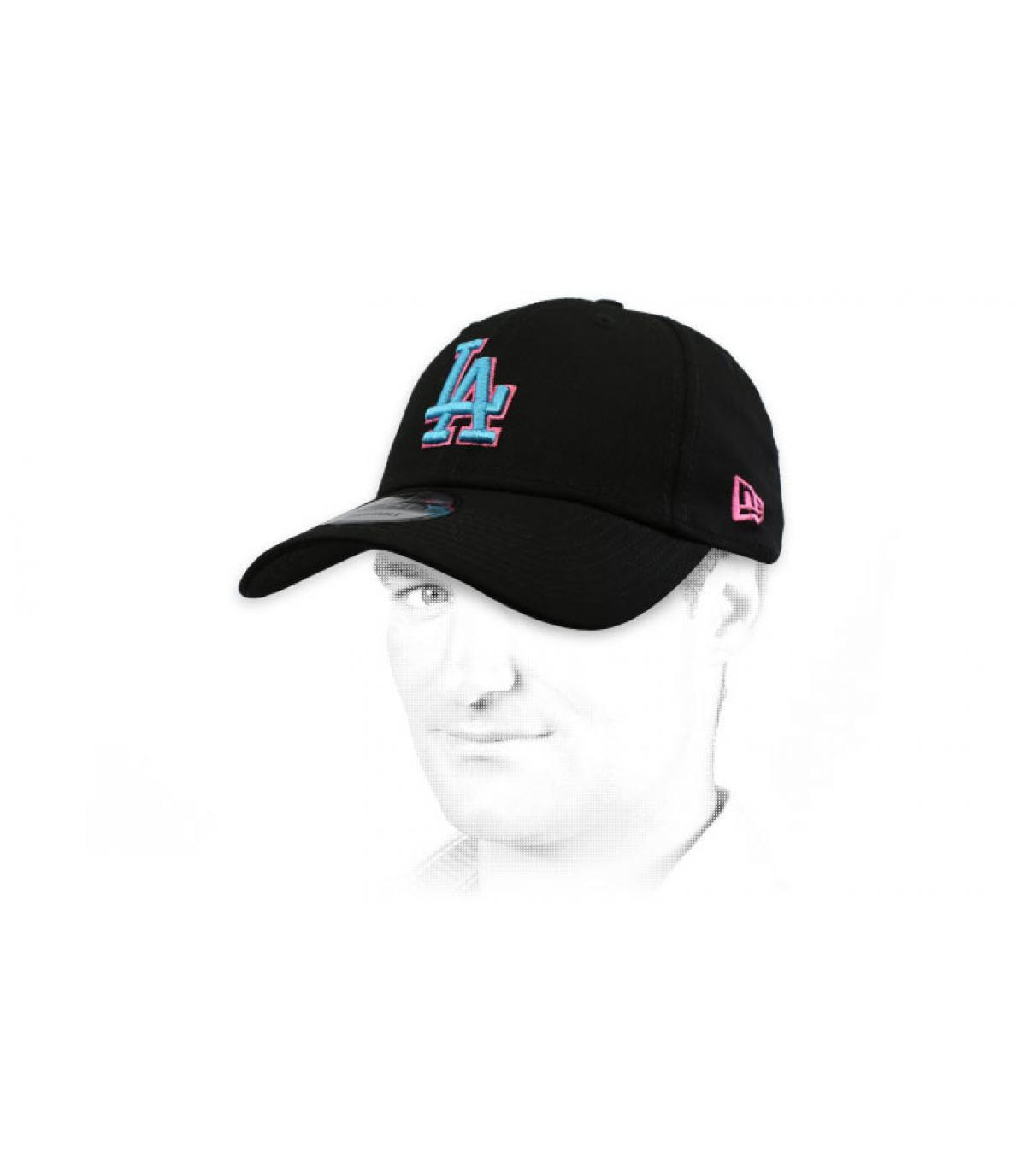 Cap LA schwarz blau