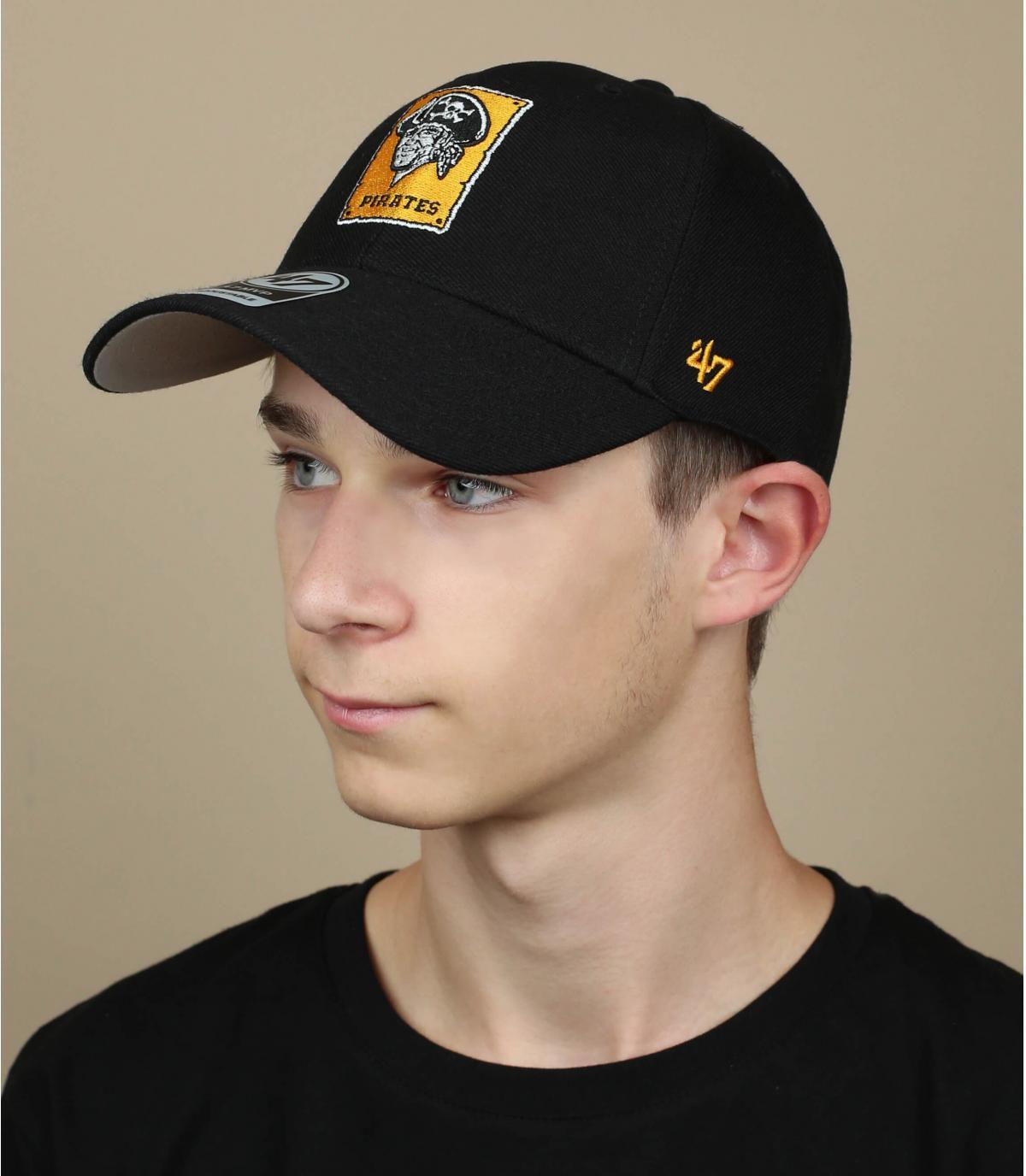 Cap Seeräuber schwarz