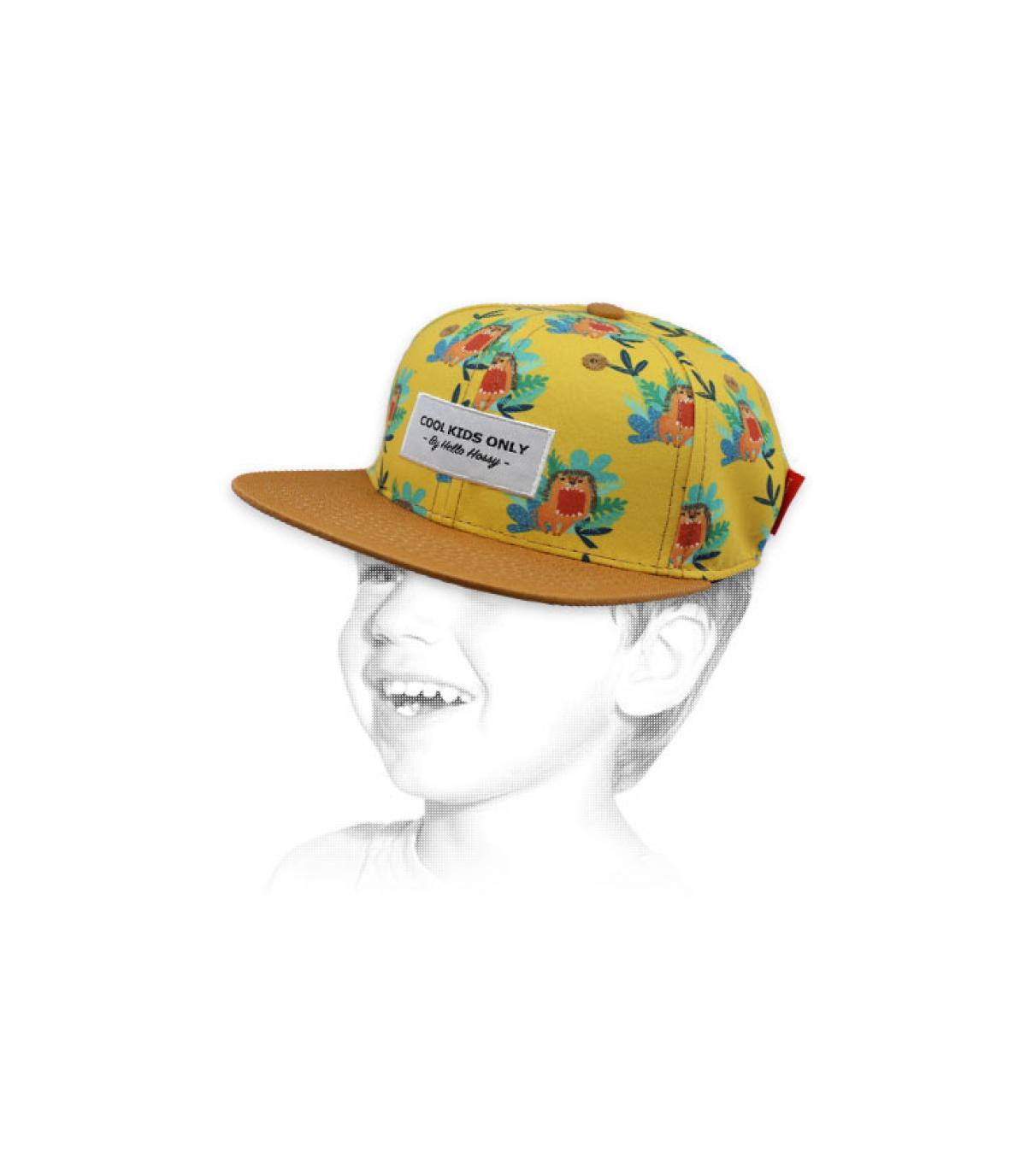 Kinder Cap Löwe gelb