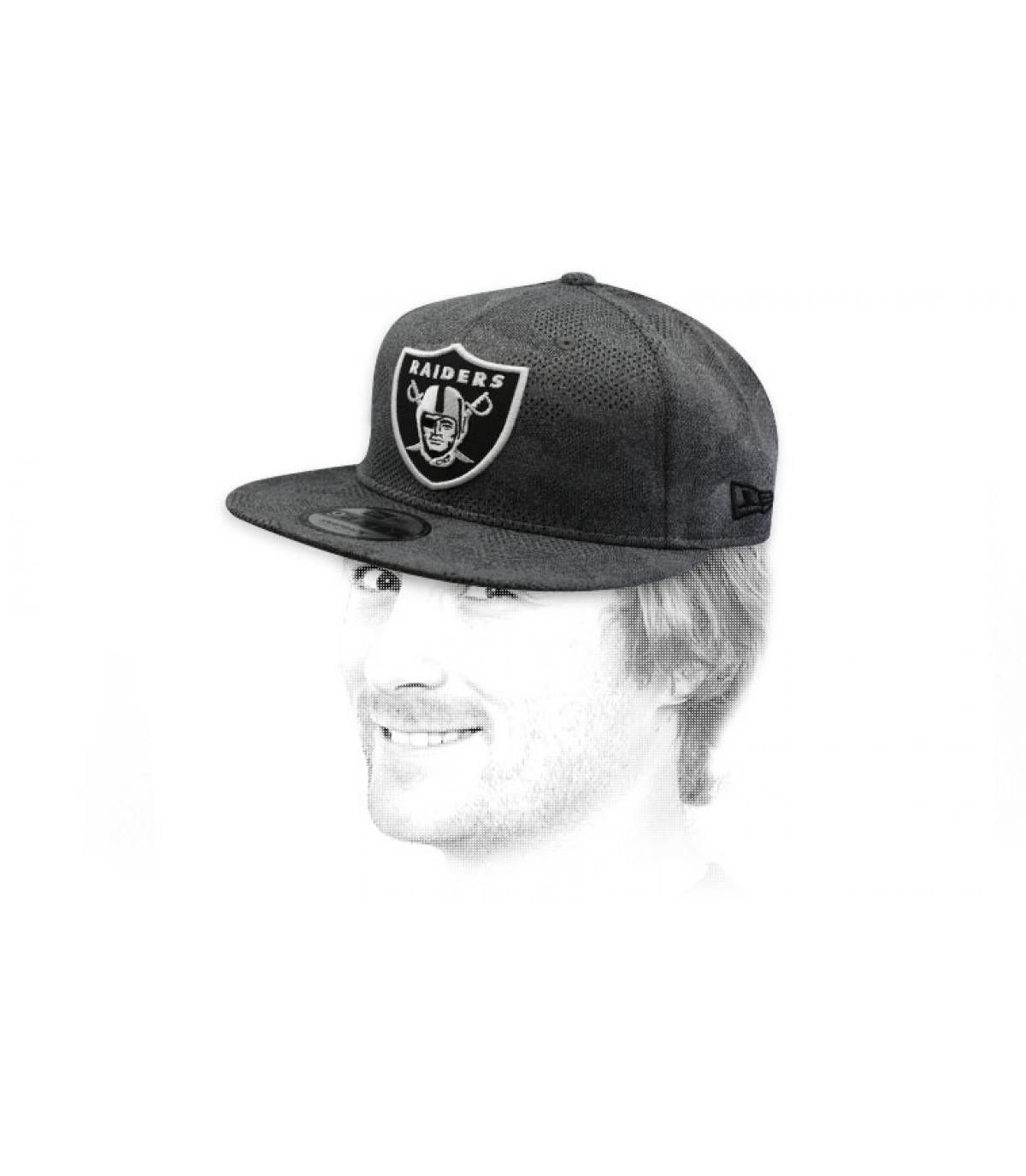 snapback Raiders grau schwarz