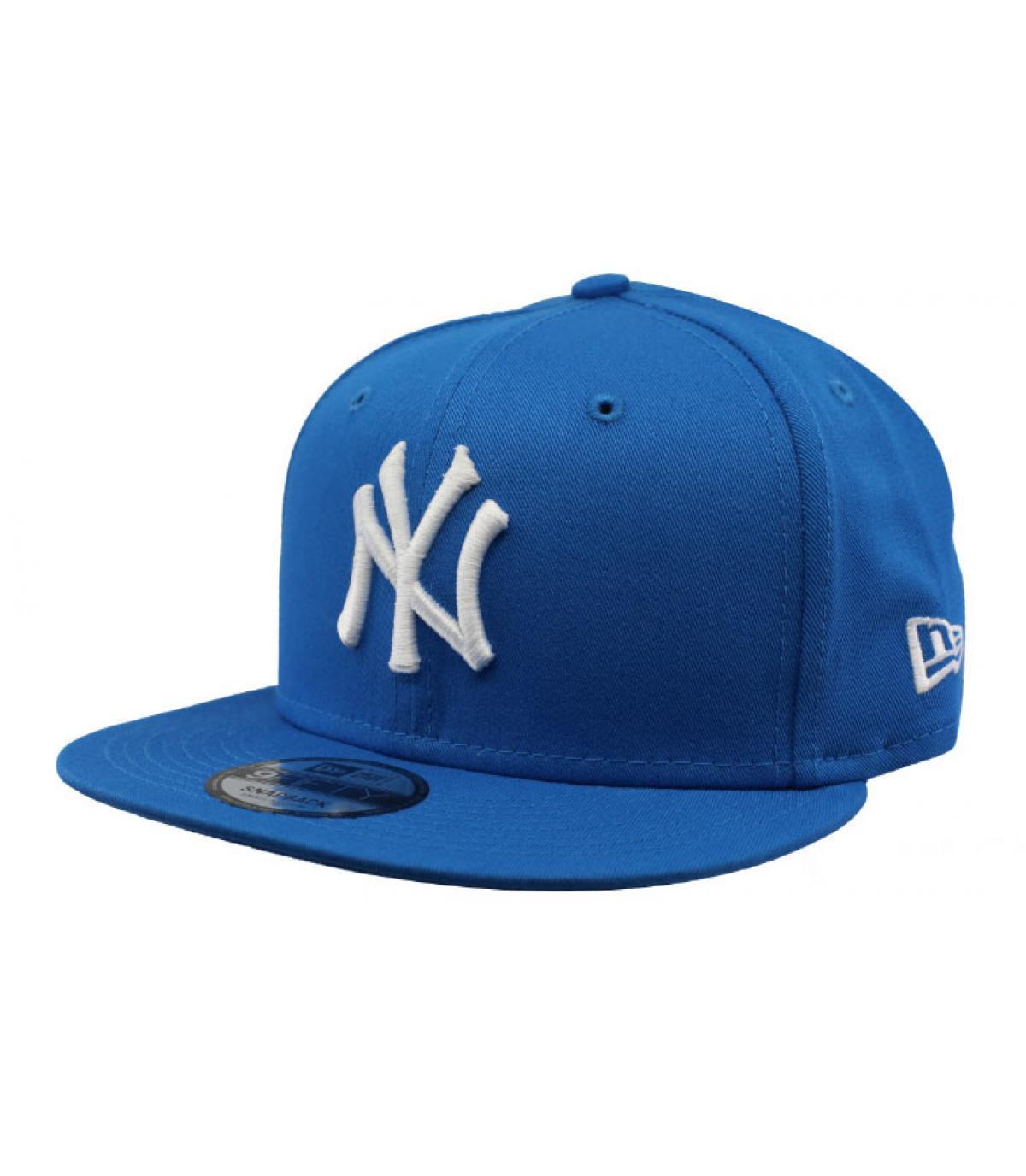 snapback NY blau weiß