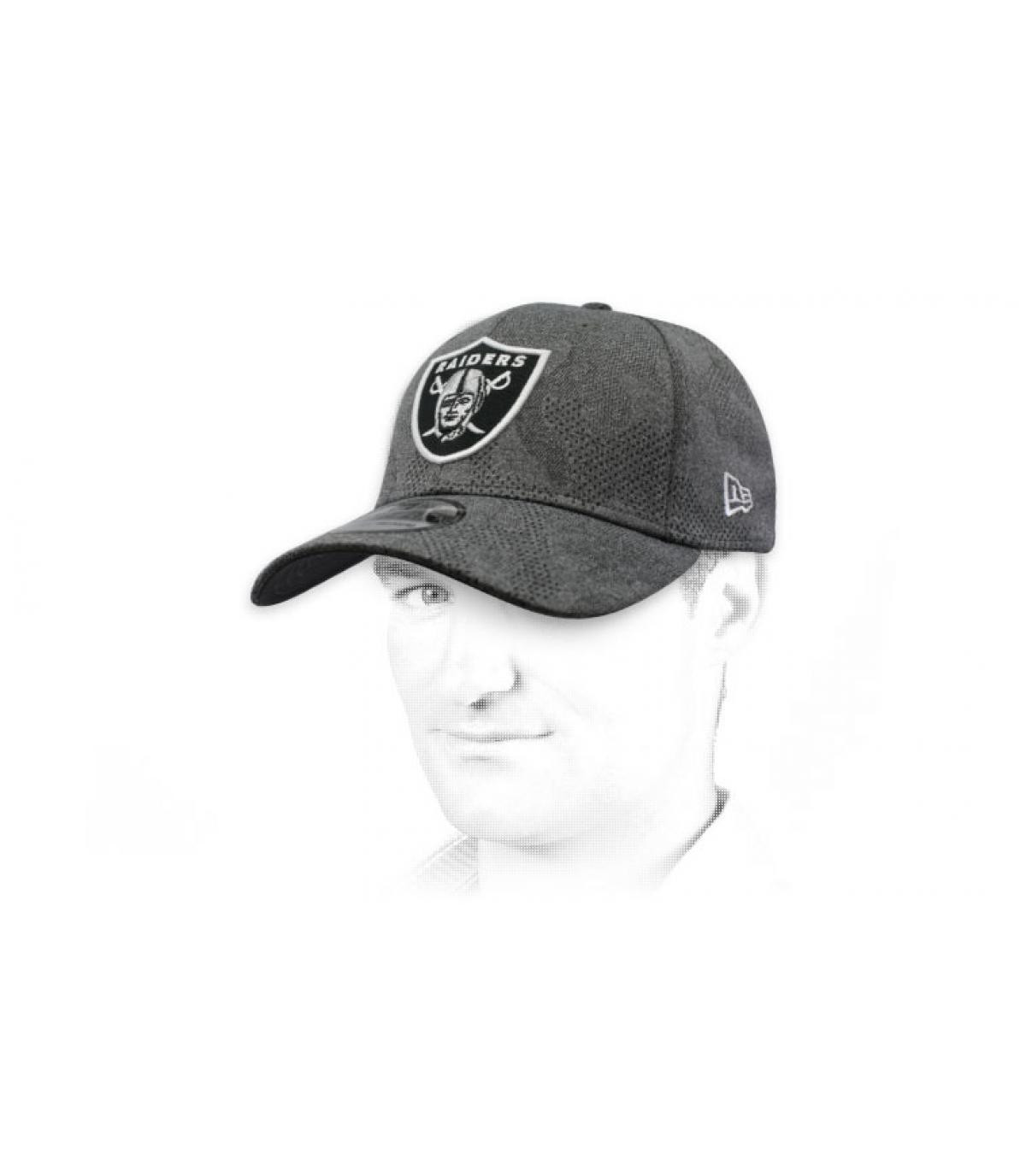 Cap Raiders grau schwarz