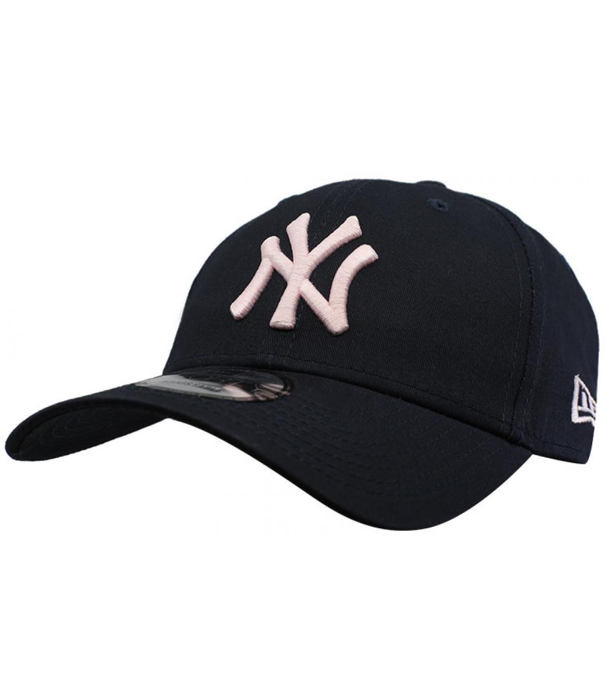 Cap NY schwarz rosa