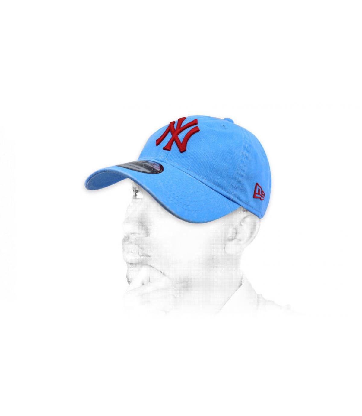 Cap NY blau rot