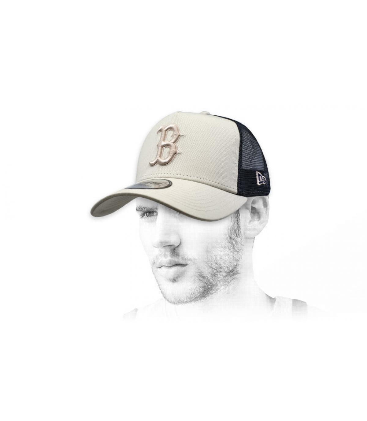 trucker B beige schwarz