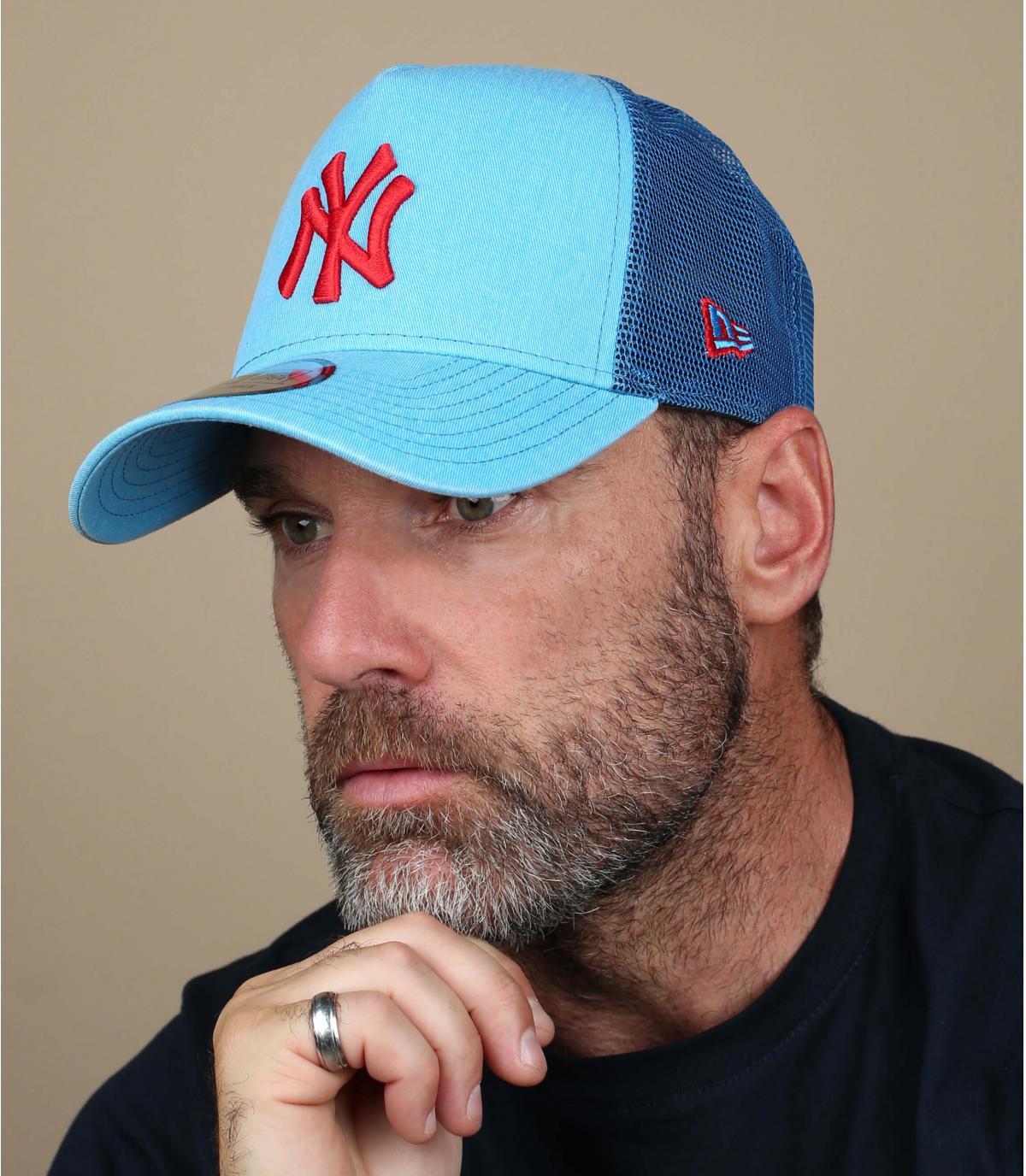 trucker blau rot NY