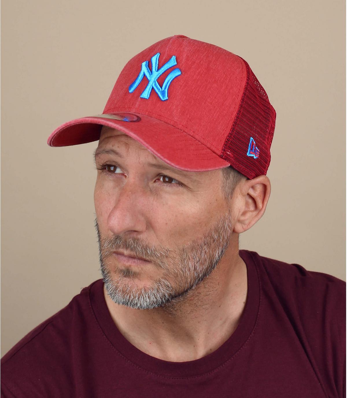 trucker rot blau NY