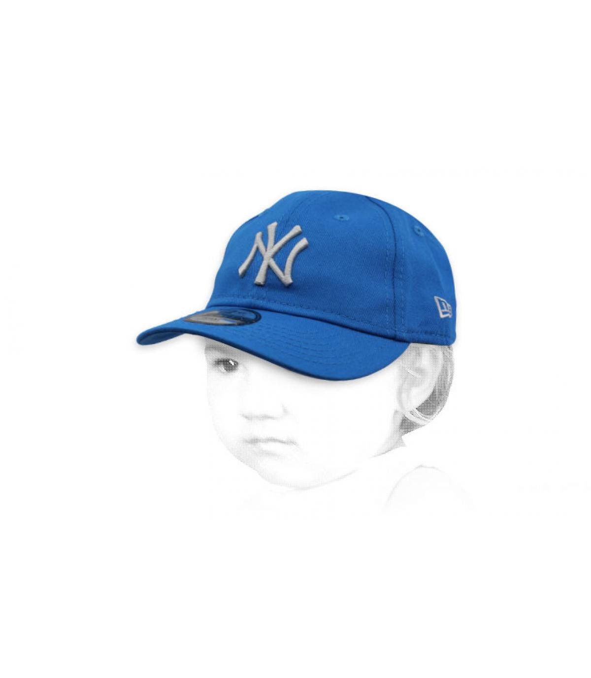Baby Cap NY blau