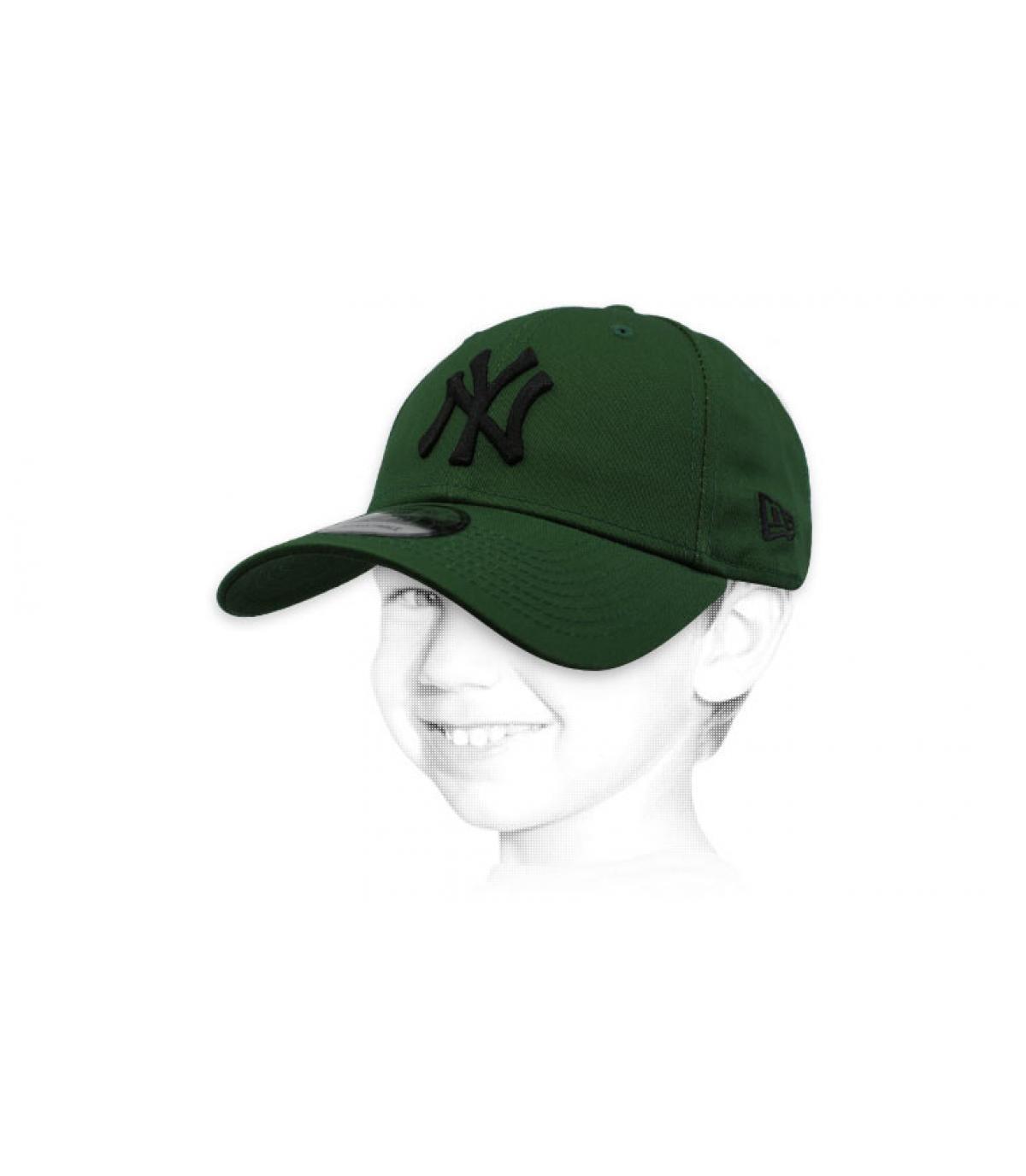 Kinder Cap NY grün