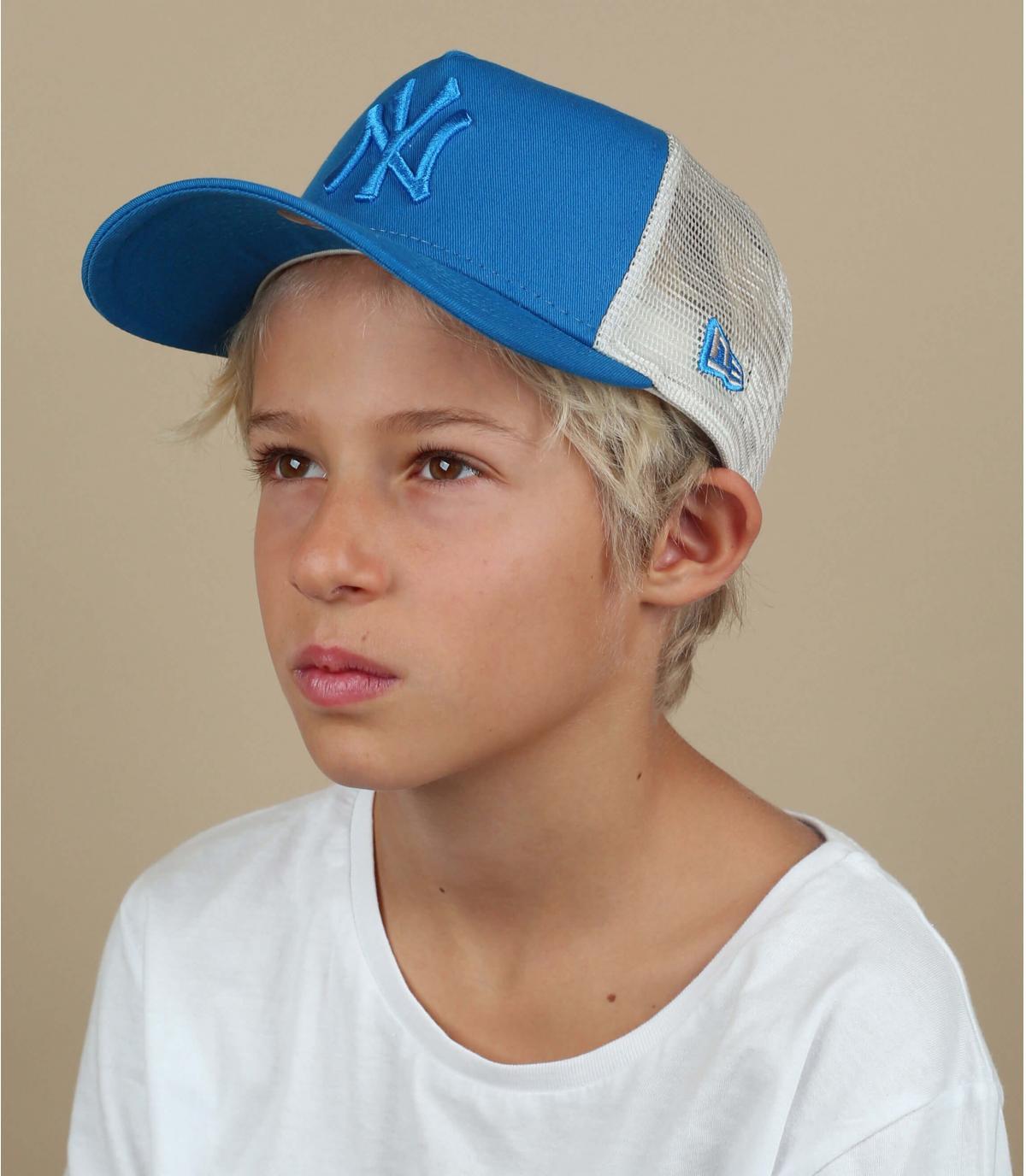 Kinder Trucker NY blau