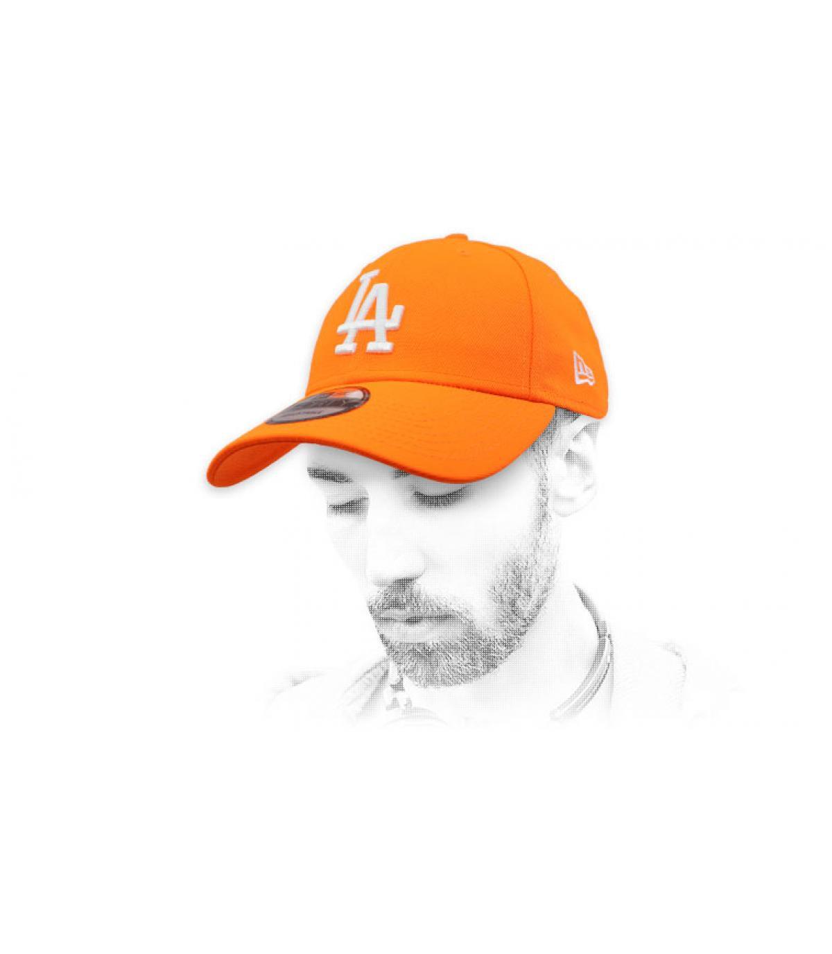 Cap LA leuchtend orange