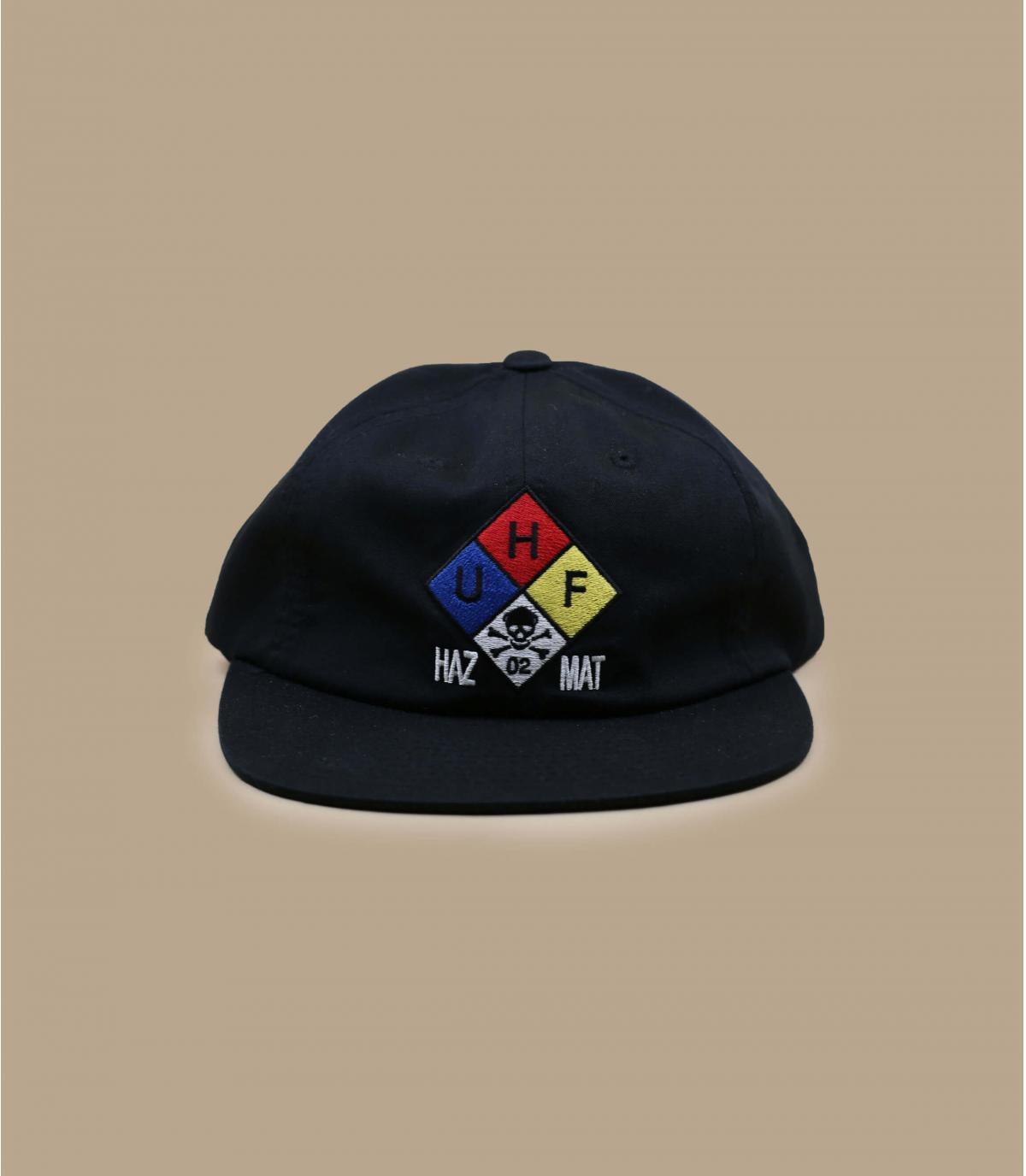 Cap Huf schwarz Stickerei