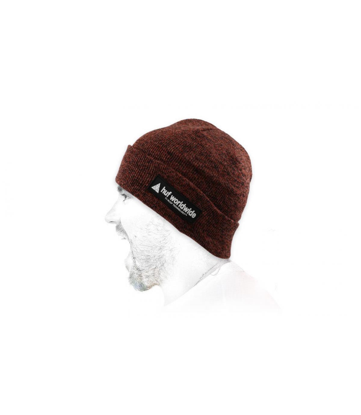 Mütze Rand bordeaux Huf