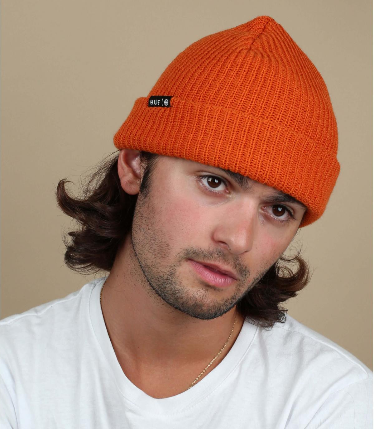 Mütze Rand orange Huf