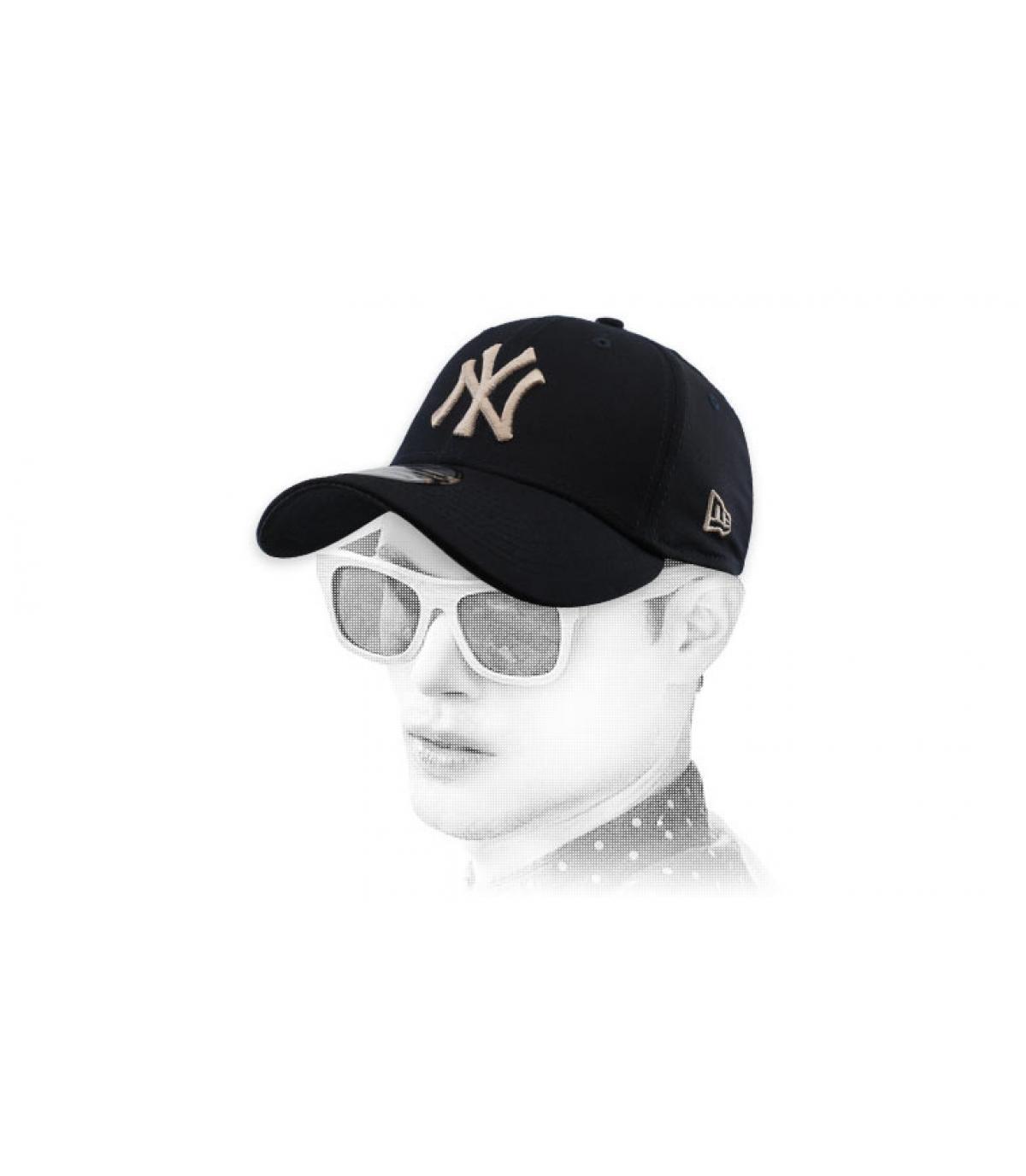 Cap NY schwarz stretch