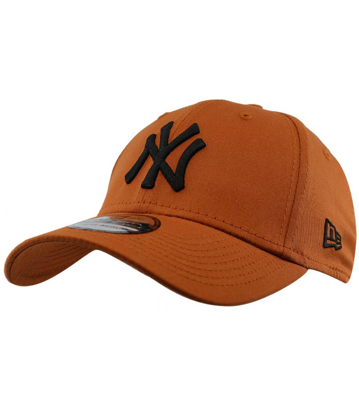 Cap NY braun schwarz