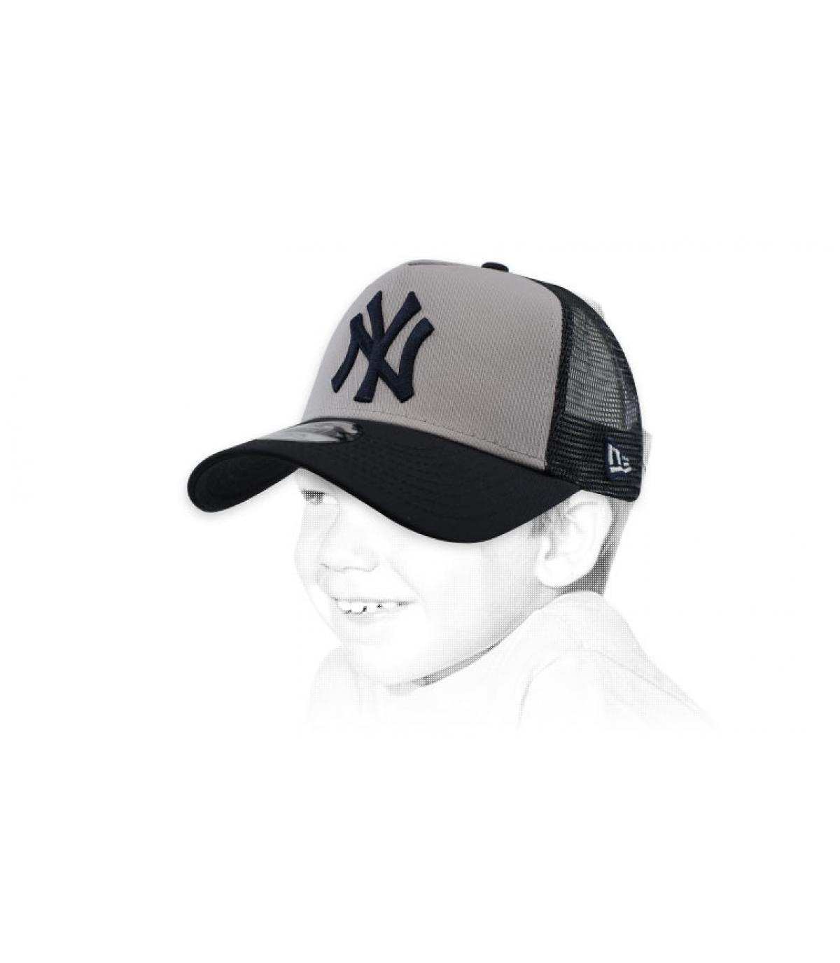 Kinder Trucker NY grau weiß