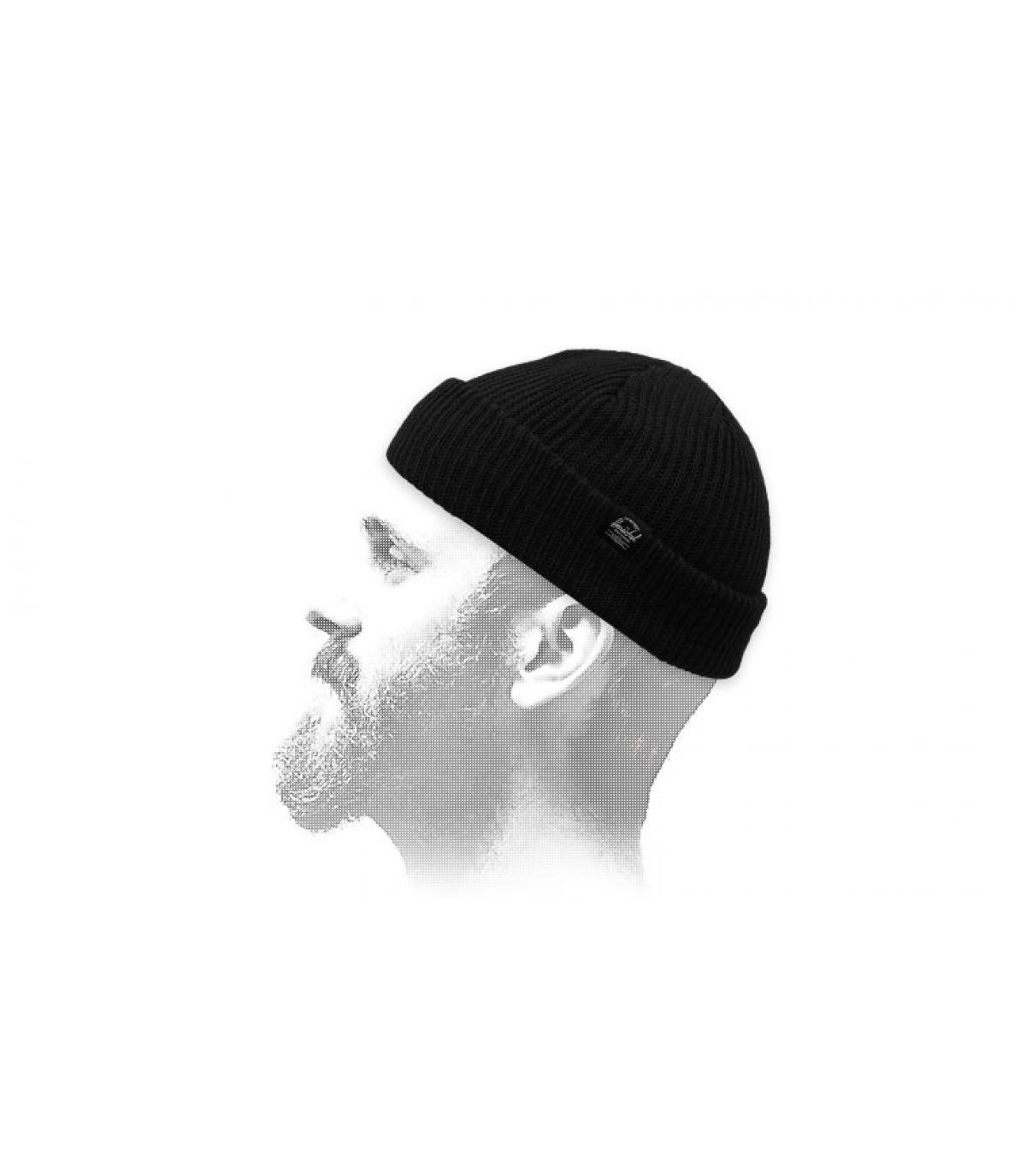 Docker Mütze  schwarz Herschel