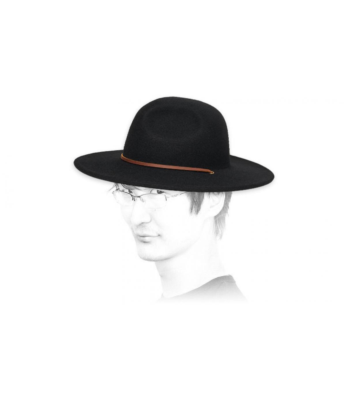 Filz Hut  schwarz Brixton