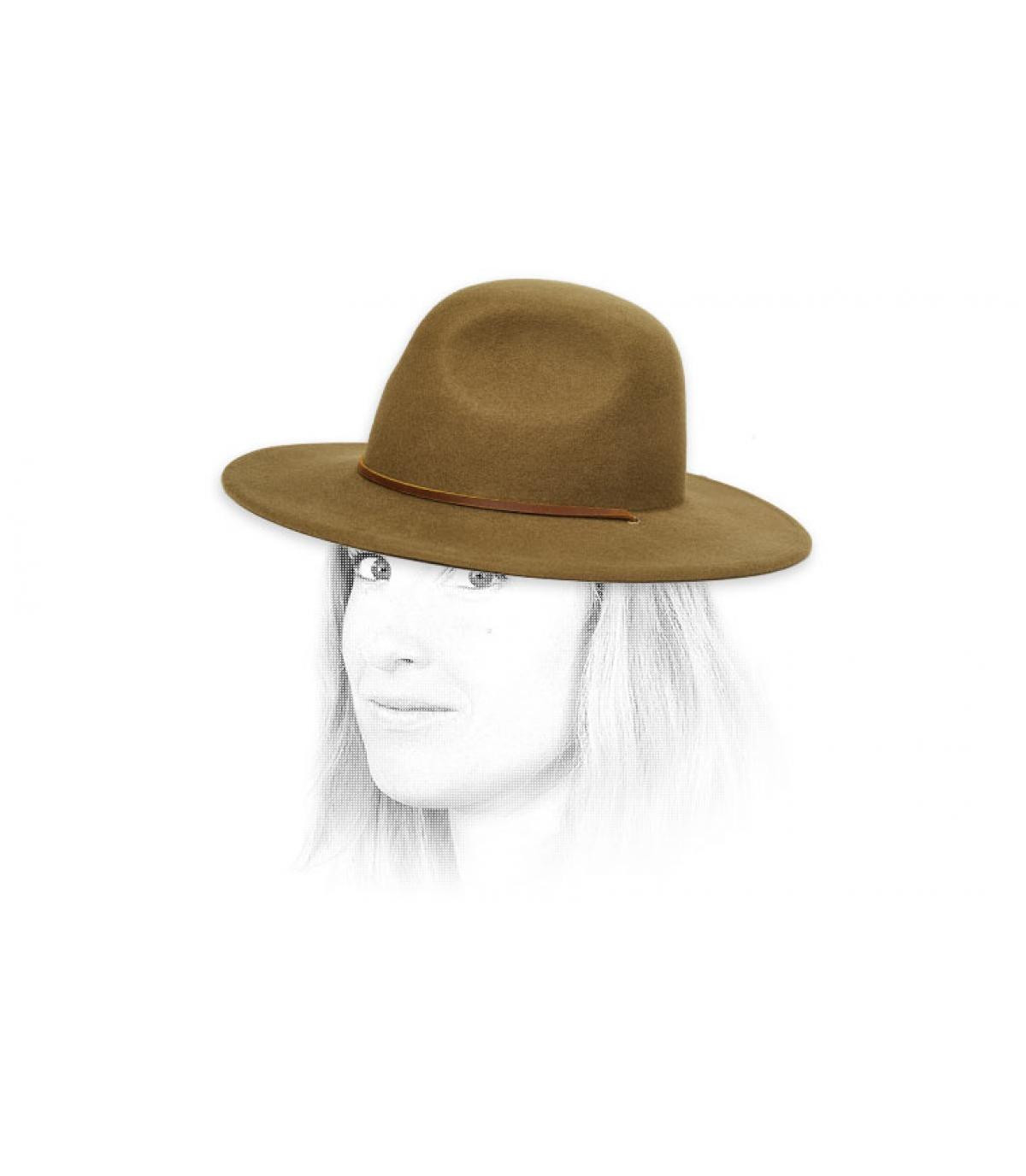 Damen Filz Hut olivgrün