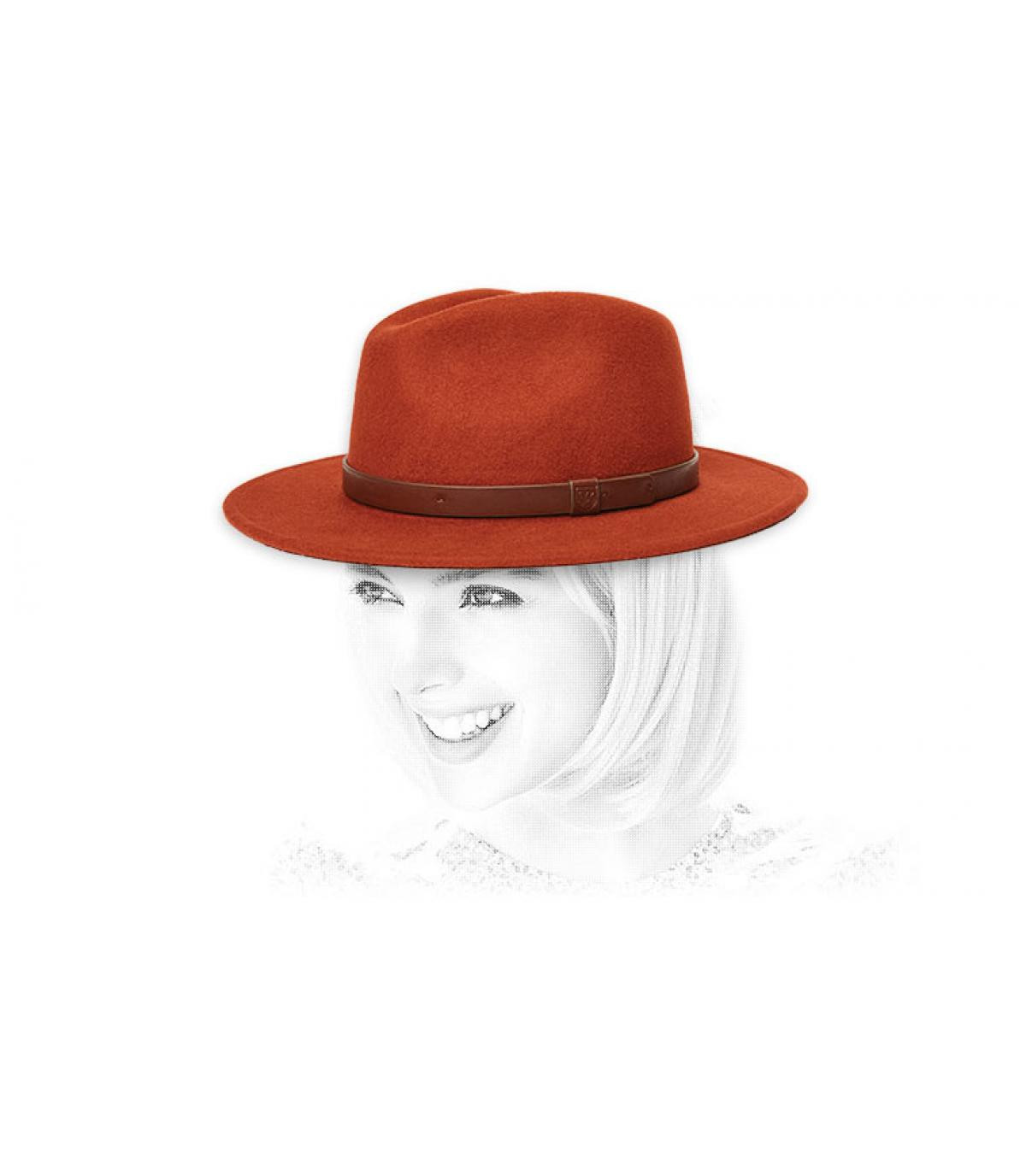 Damen Hut rot