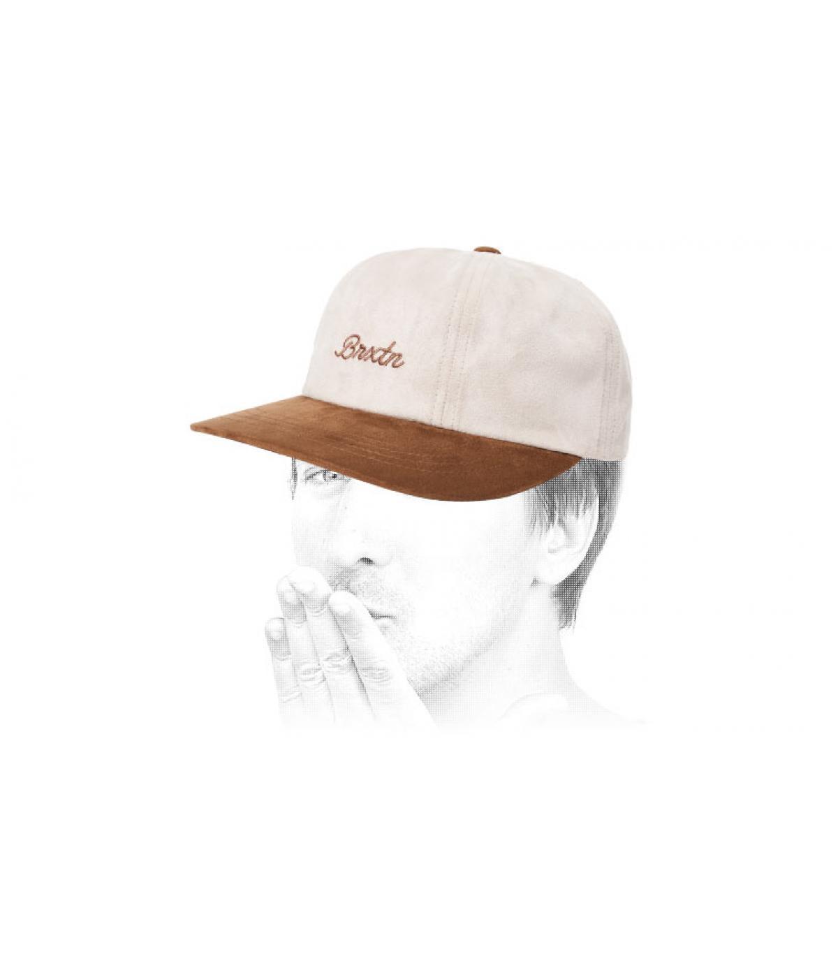 Cap weiß beige