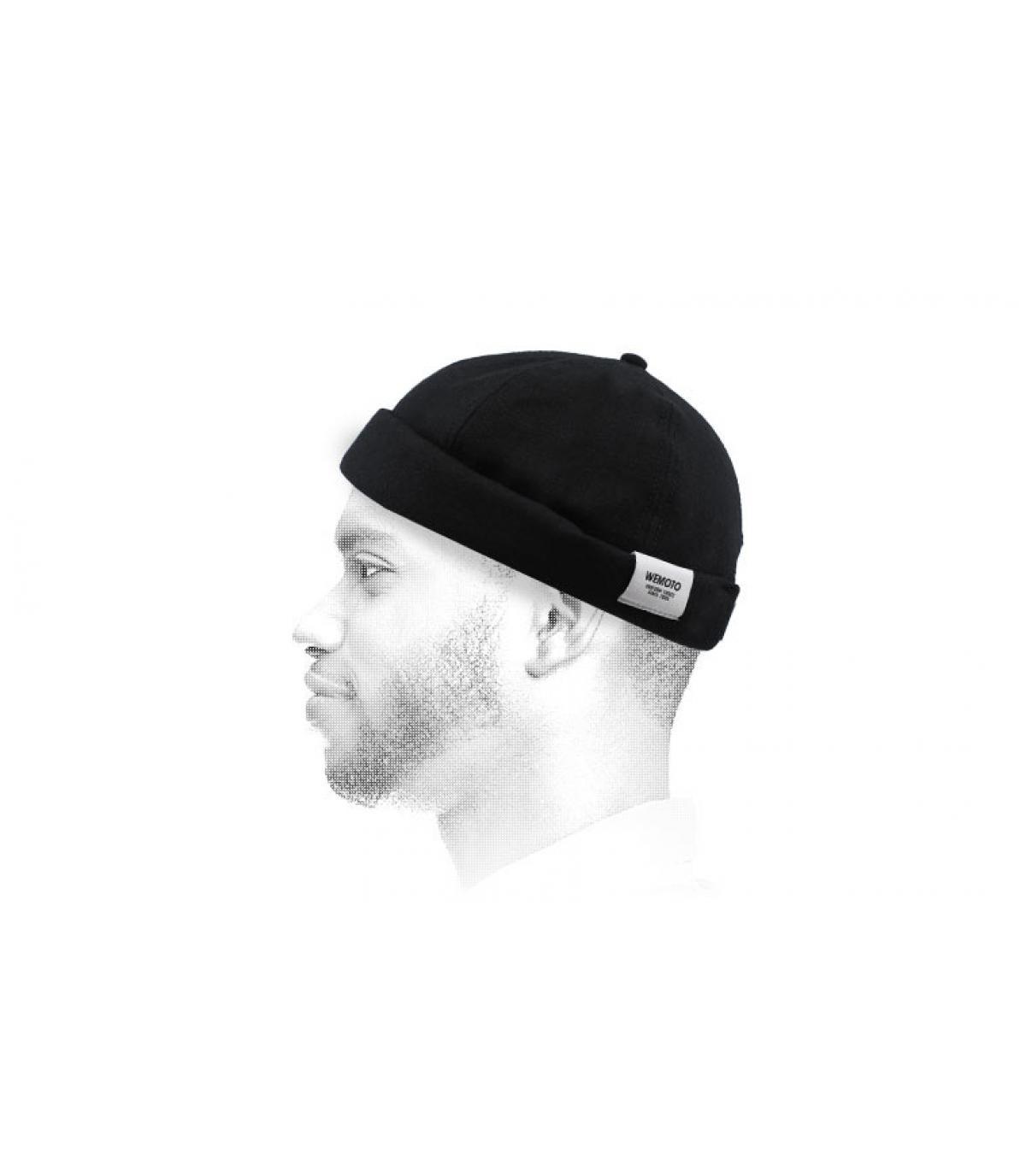 Docker Mütze schwarz Wemoto
