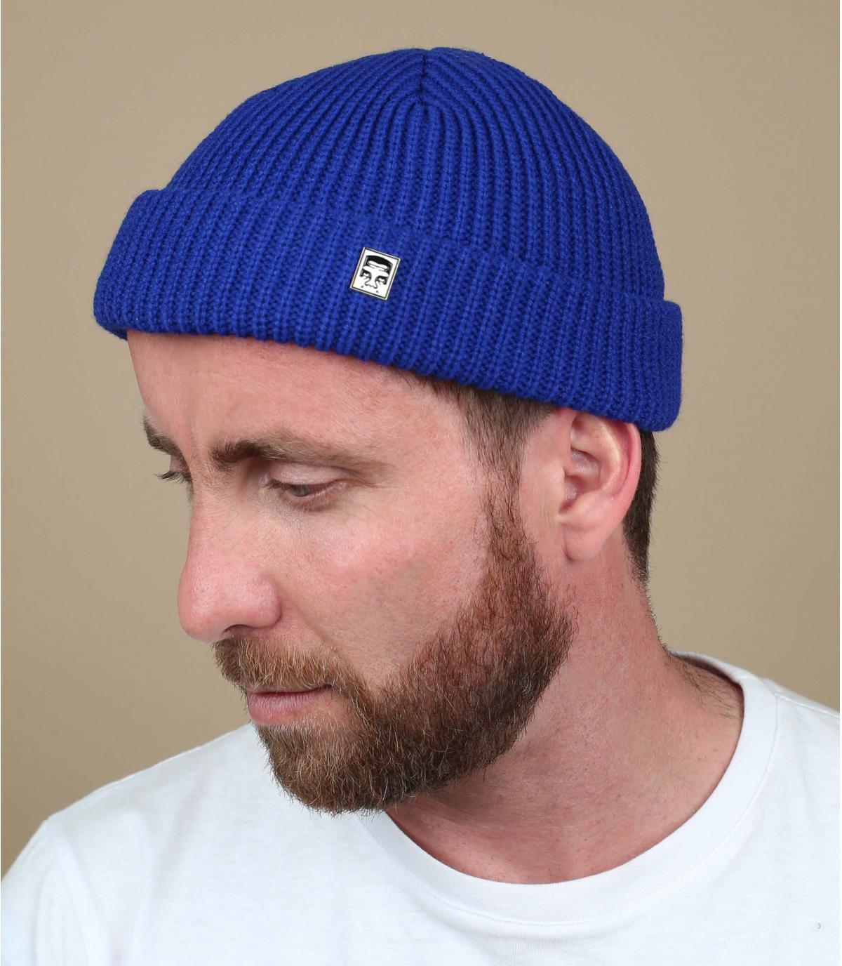 Docker Mütze blau Obey