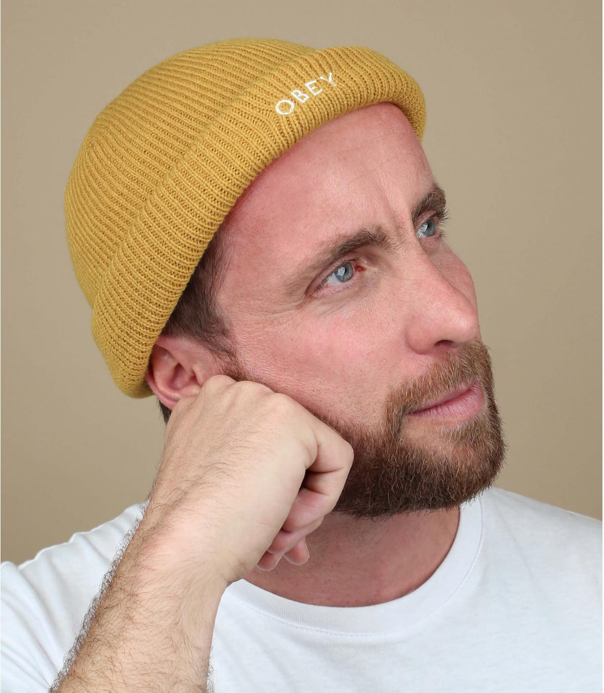 Docker Mütze beige Obey